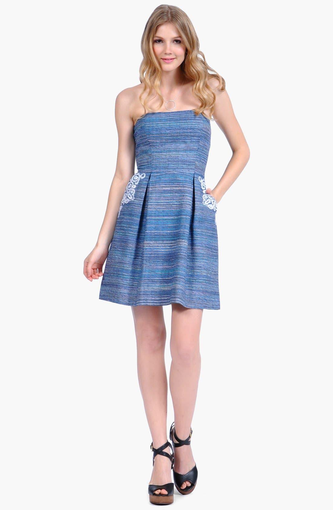 Main Image - Phoebe Couture Lace Appliqué Fit & Flare Dress