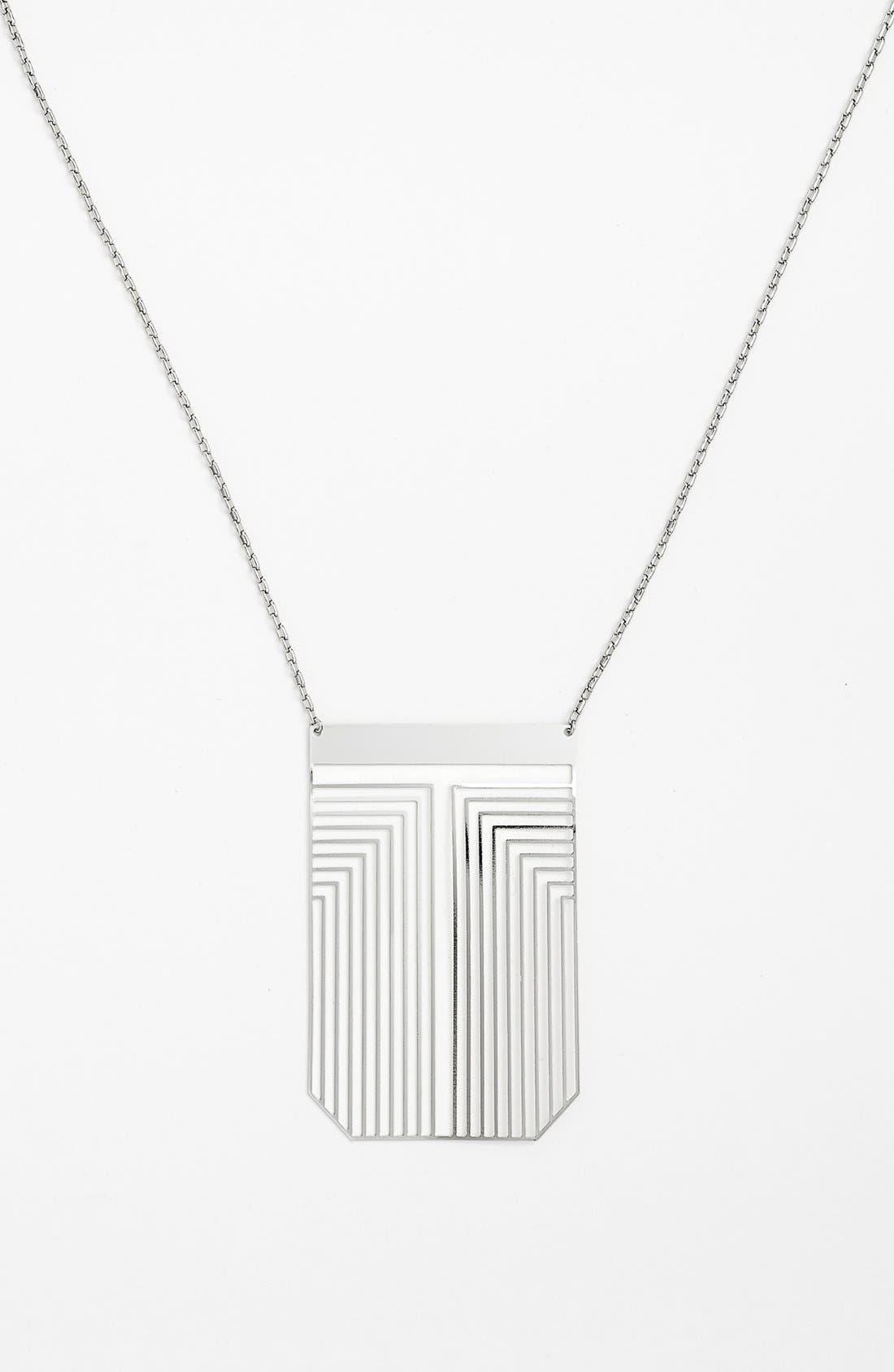 Main Image - Tory Burch 'Frete' Long Pendant Necklace