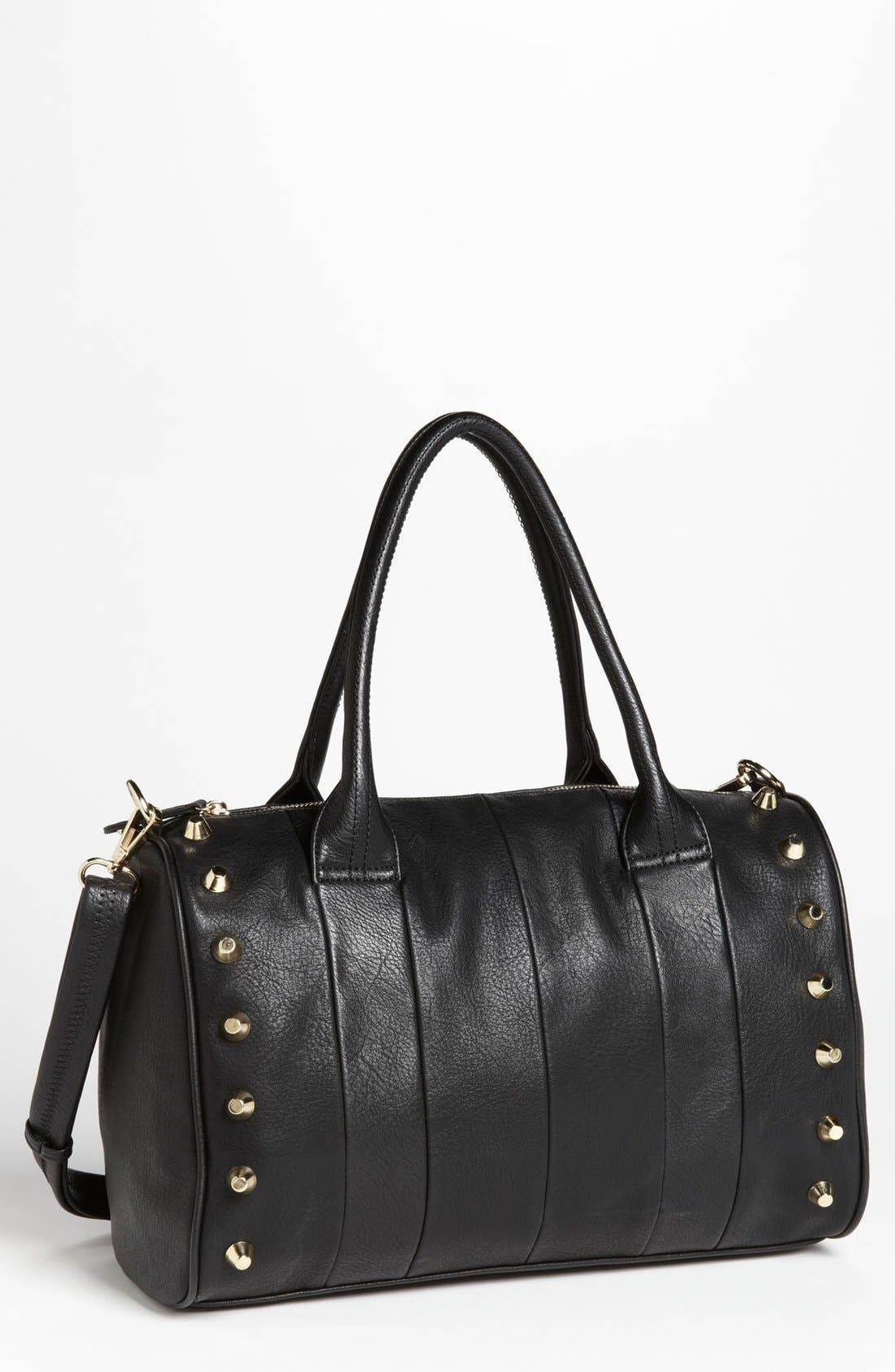 Main Image - Emperia Studded Faux Leather Barrel Bag, Large