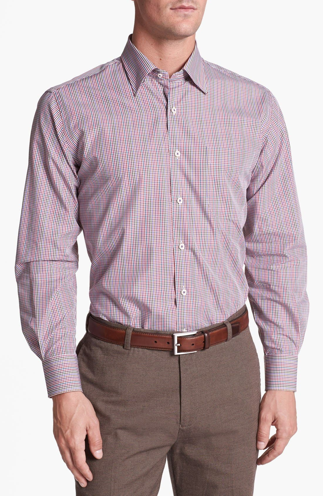 Main Image - Peter Millar Regular Fit Sport Shirt (Tall)