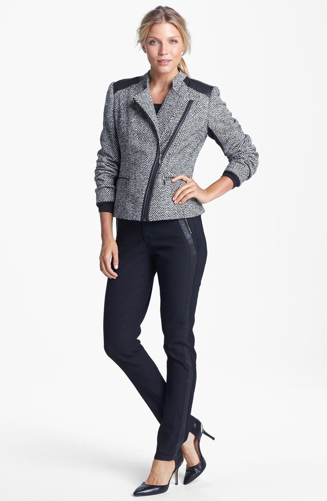 Alternate Image 3  - Amber Sun Tweed Moto Jacket