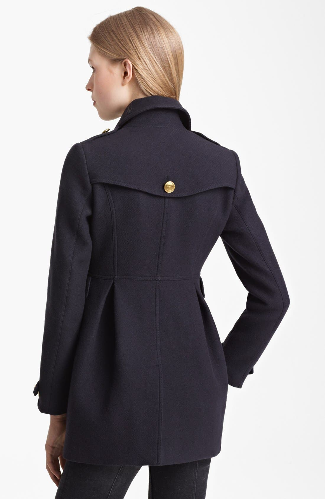 Alternate Image 2  - Burberry Brit 'Ostford' Wool Blend Military Coat
