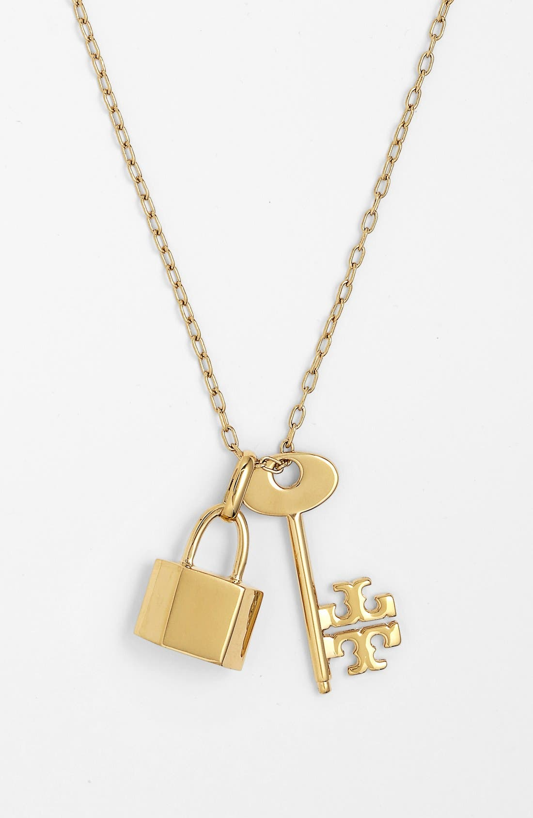 Alternate Image 1 Selected - Tory Burch 'Riley' Cluster Pendant Necklace