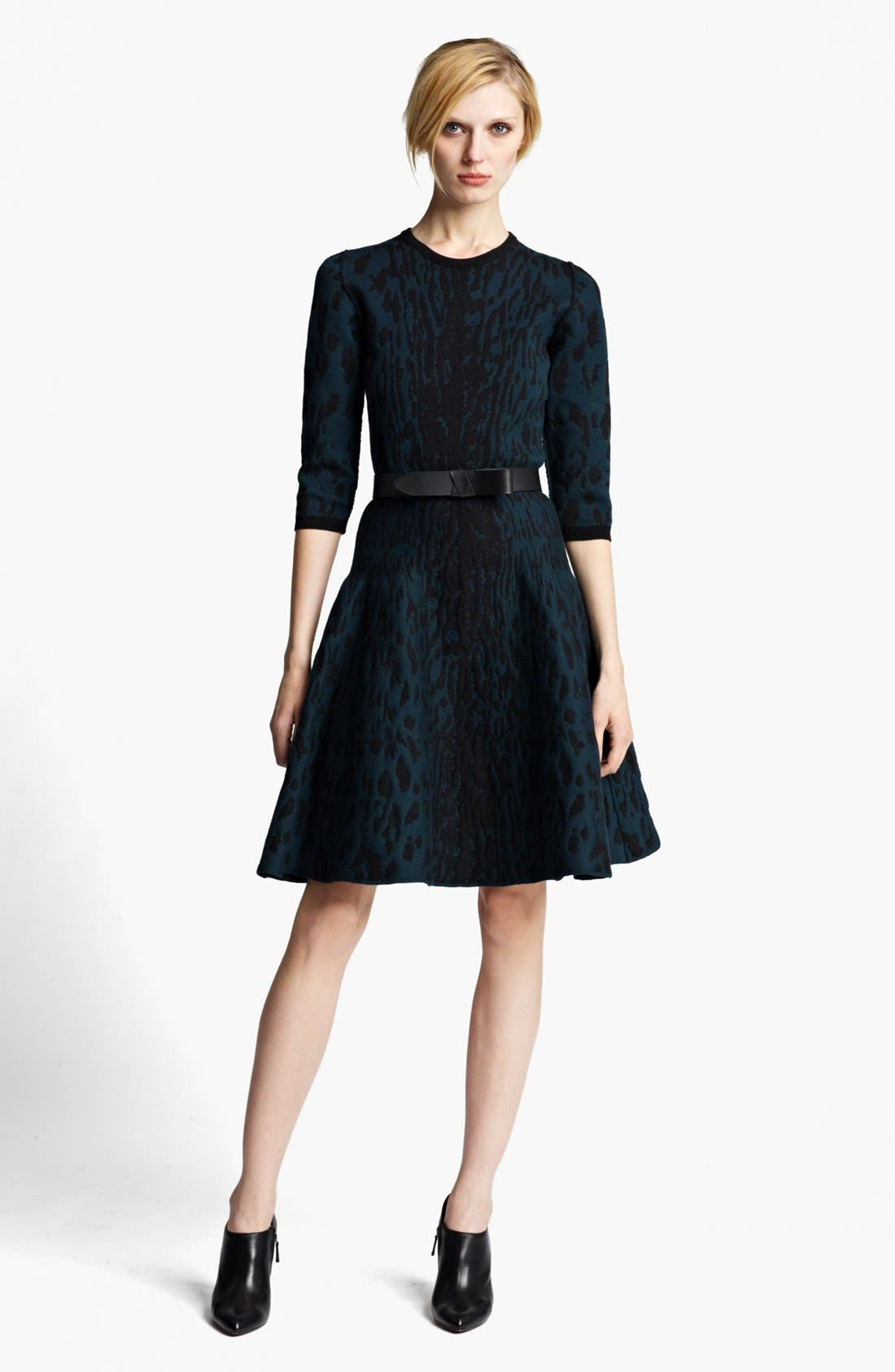 Main Image - Lanvin Full Skirt Leopard Jacquard Dress