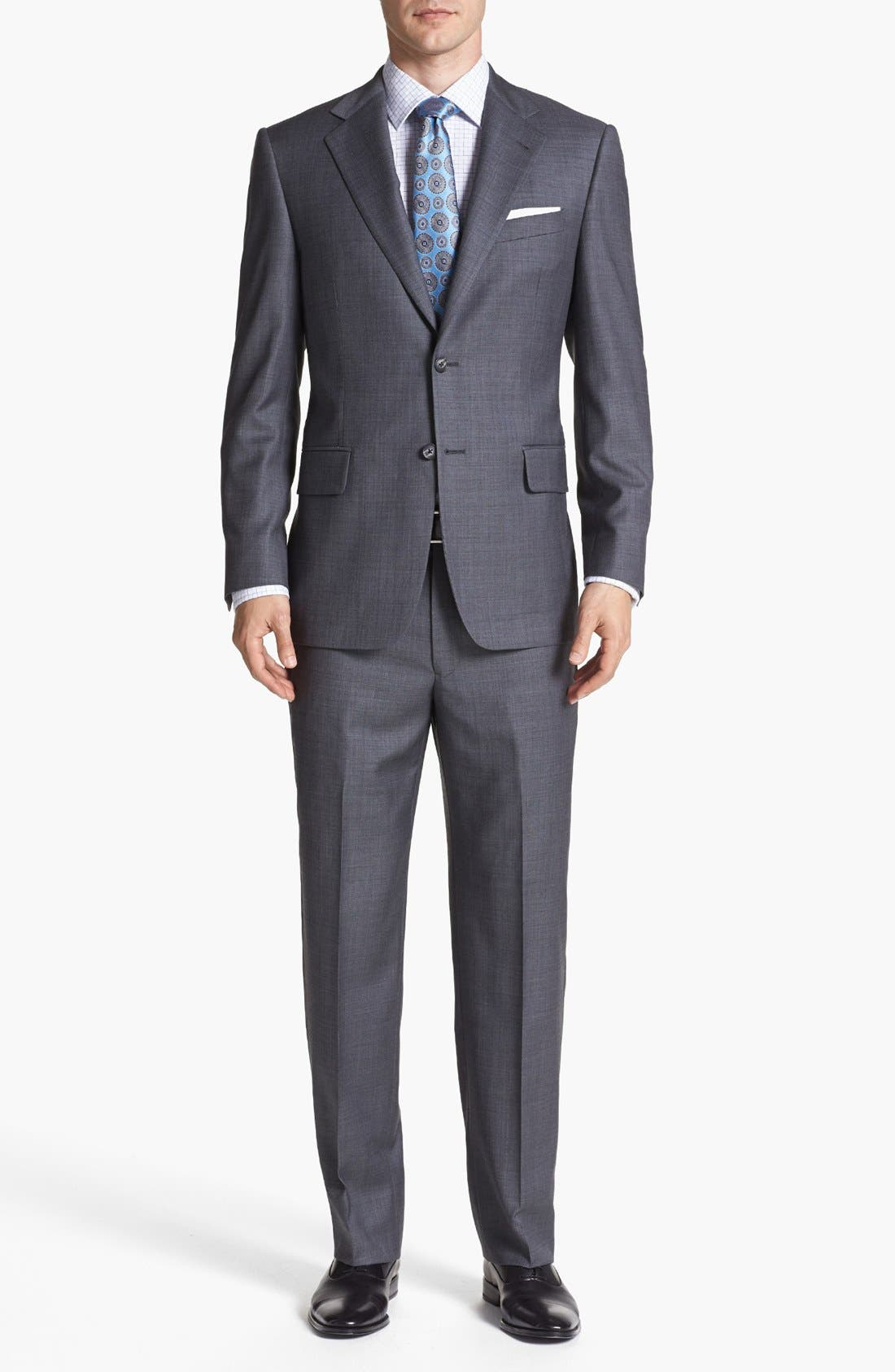 Main Image - Joseph Abboud 'Signature Silver' Wool Suit