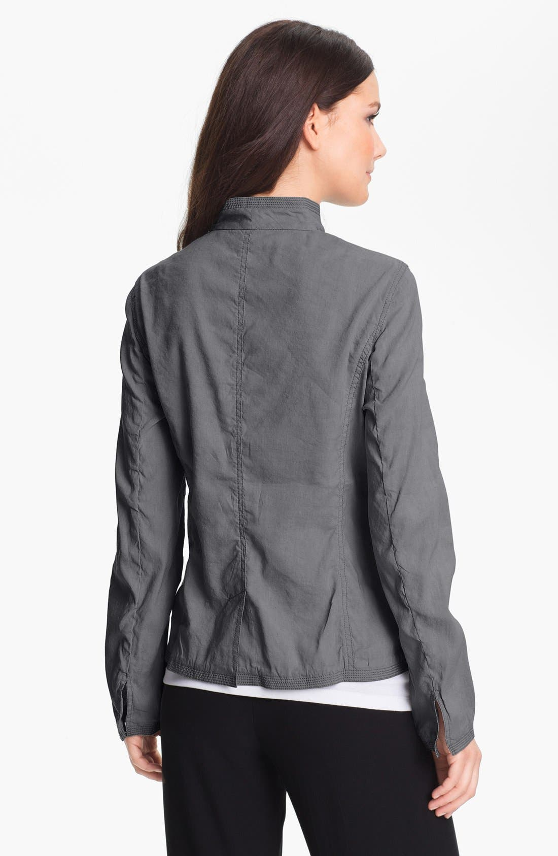 Alternate Image 2  - Eileen Fisher Stand Collar Jacket (Petite)