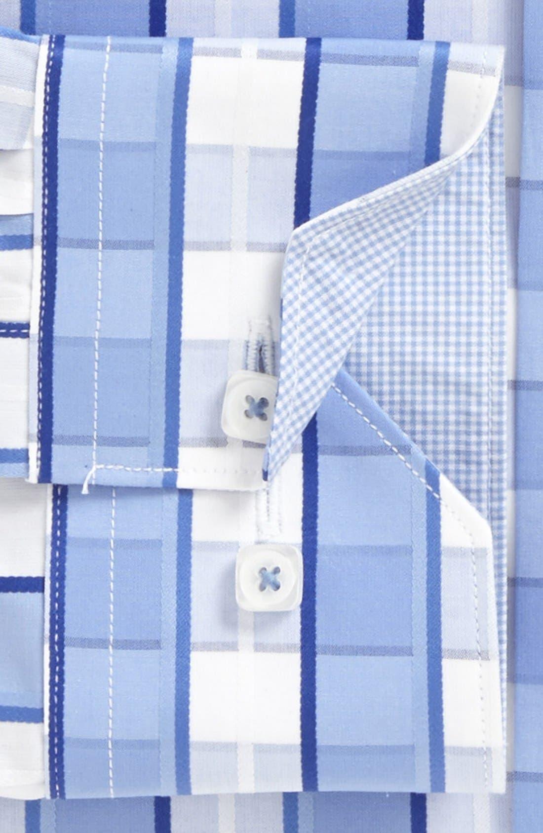 Alternate Image 5  - Bugatchi Check Shaped Fit Cotton Sport Shirt