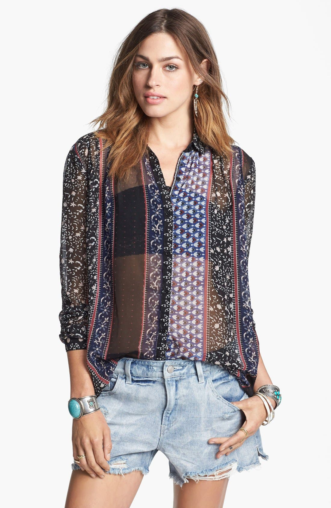 Alternate Image 1  - Free People 'Moonlight Mile' Top