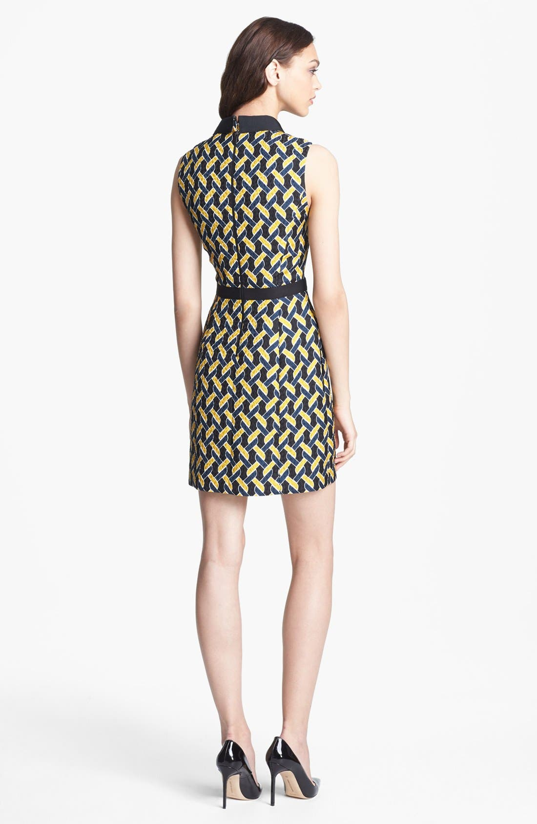 Alternate Image 2  - Miss Wu Abstract Chain Jacquard Dress (Nordstrom Exclusive)