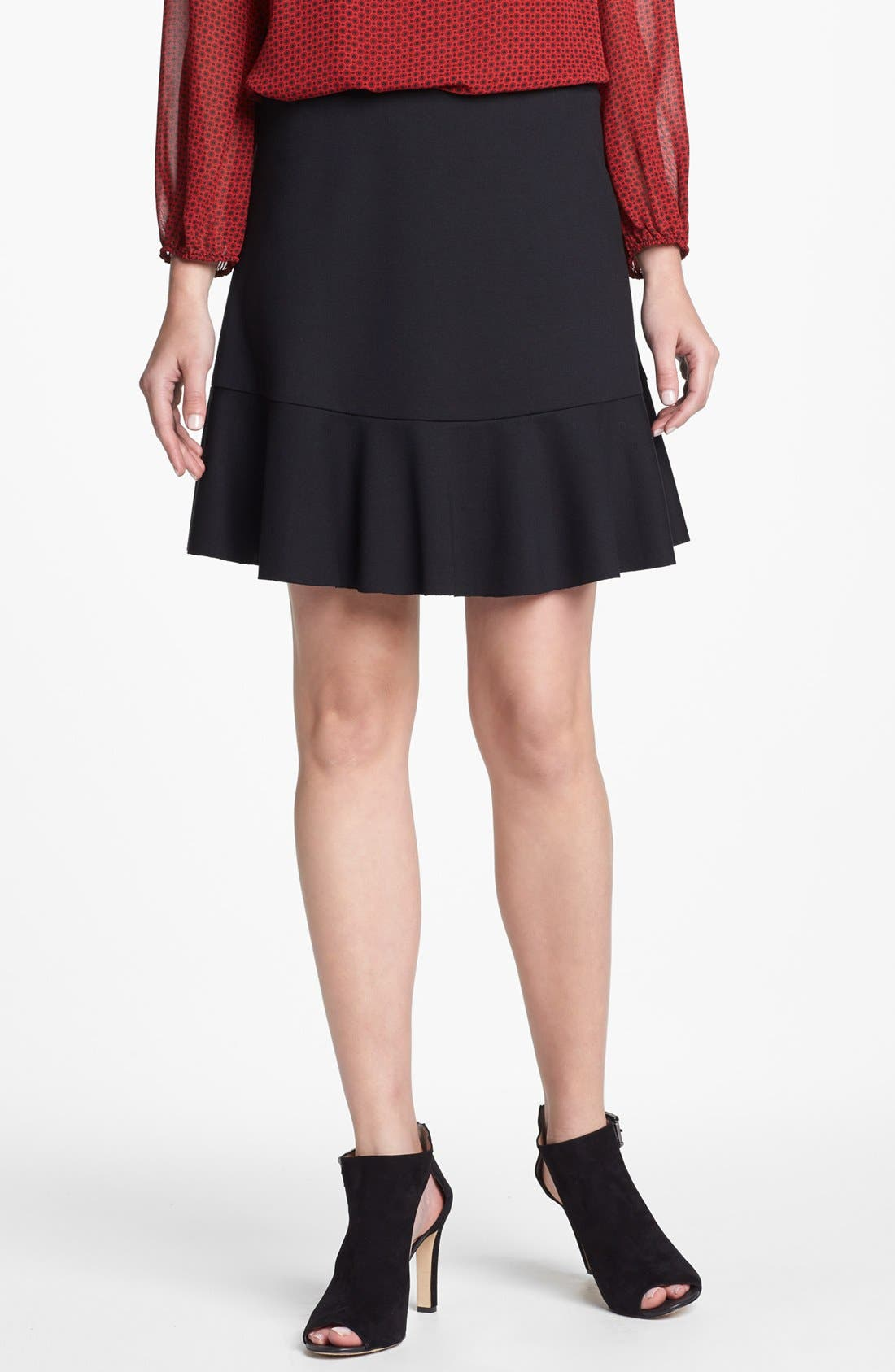 Main Image - Vince Camuto Ruffle A-Line Skirt (Nordstrom Exclusive)