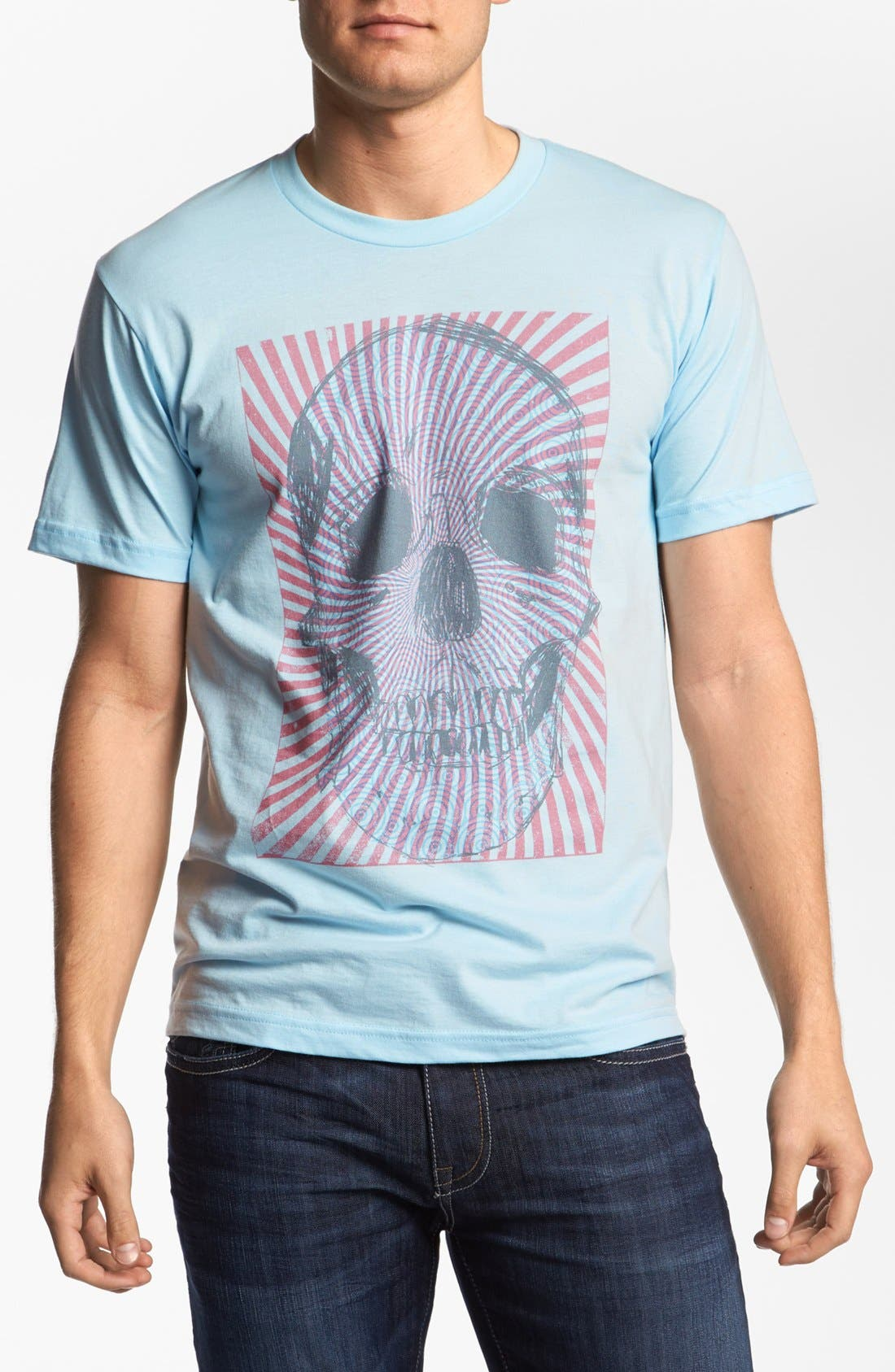 Alternate Image 1 Selected - The Poster List 'Swirl Skull' T-Shirt