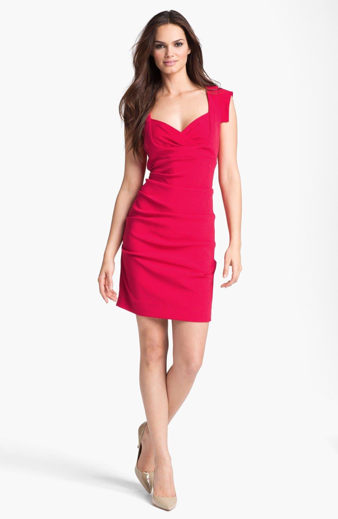 Alternate Image 1 Selected - Nicole Miller Satin Crepe Sheath Dress