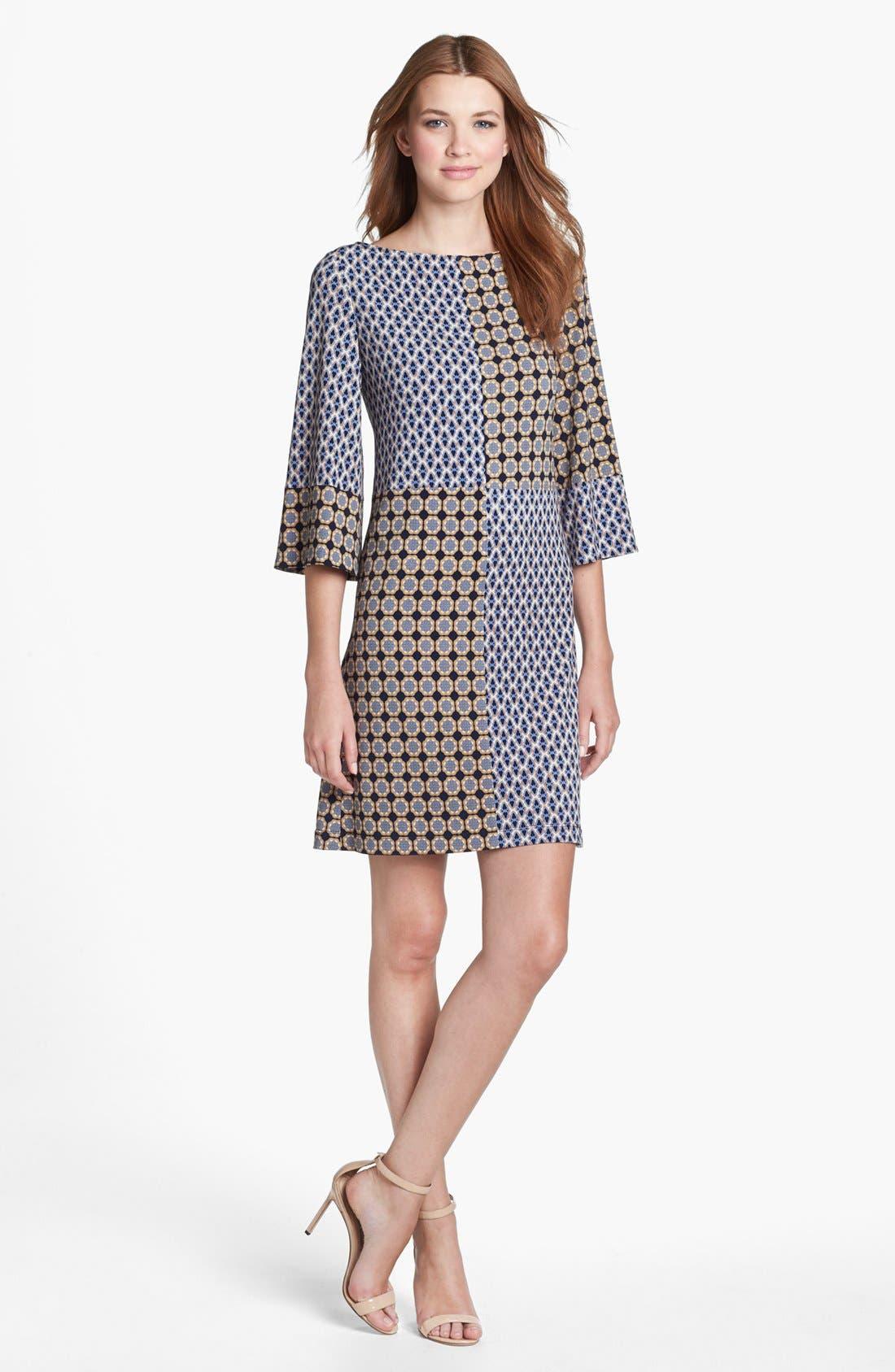 Main Image - Isaac Mizrahi New York Print Jersey Shift Dress
