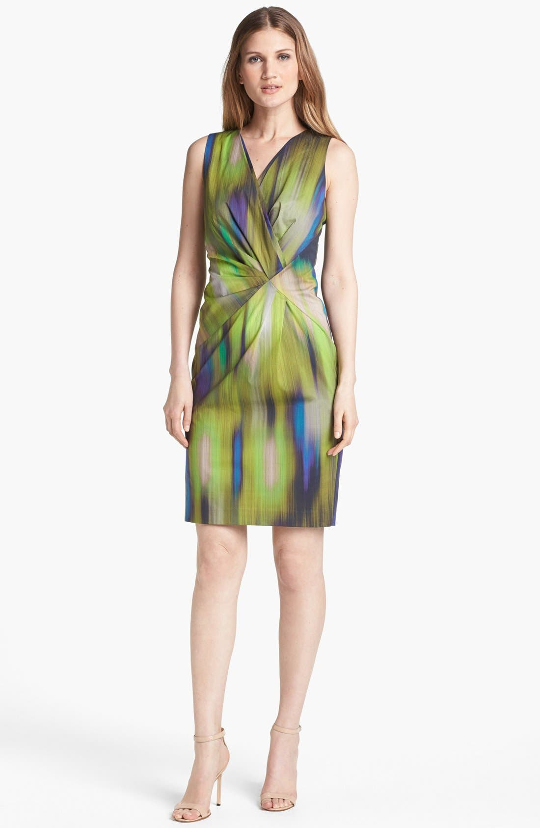 Alternate Image 1 Selected - Lafayette 148 New York 'Laurel - Brushstroke Ikat' Dress