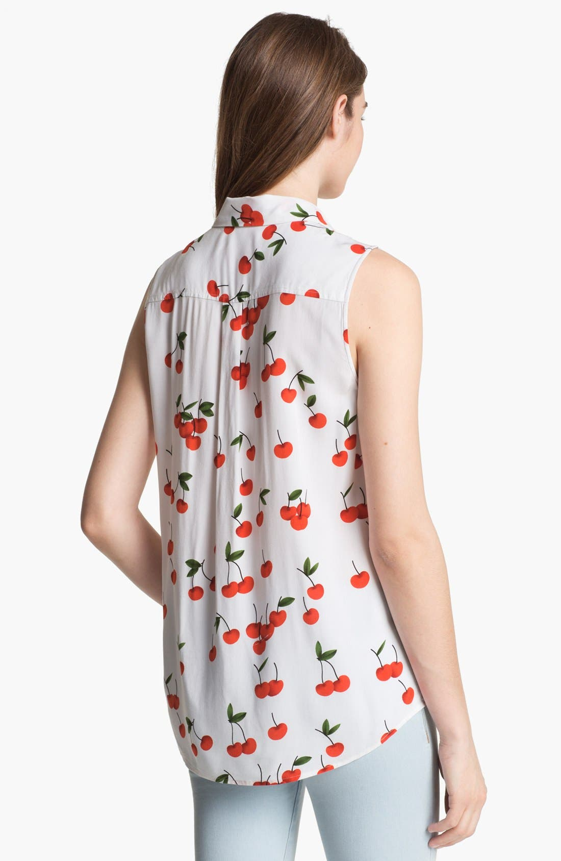 Alternate Image 2  - Two by Vince Camuto Print Sleeveless Shirt