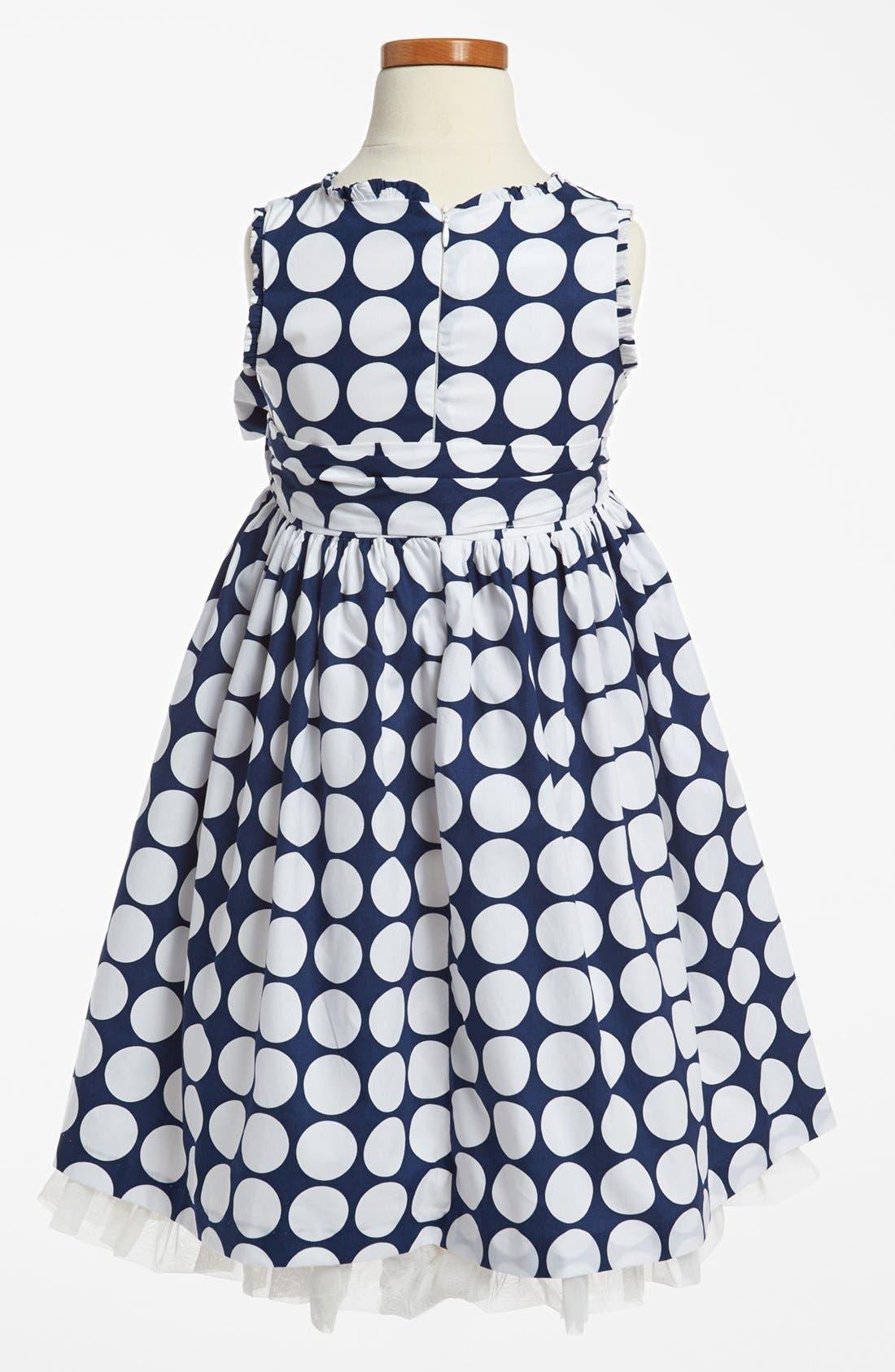 Alternate Image 2  - Pippa & Julie Print Dress (Toddler Girls, Little Girls & Big Girls)