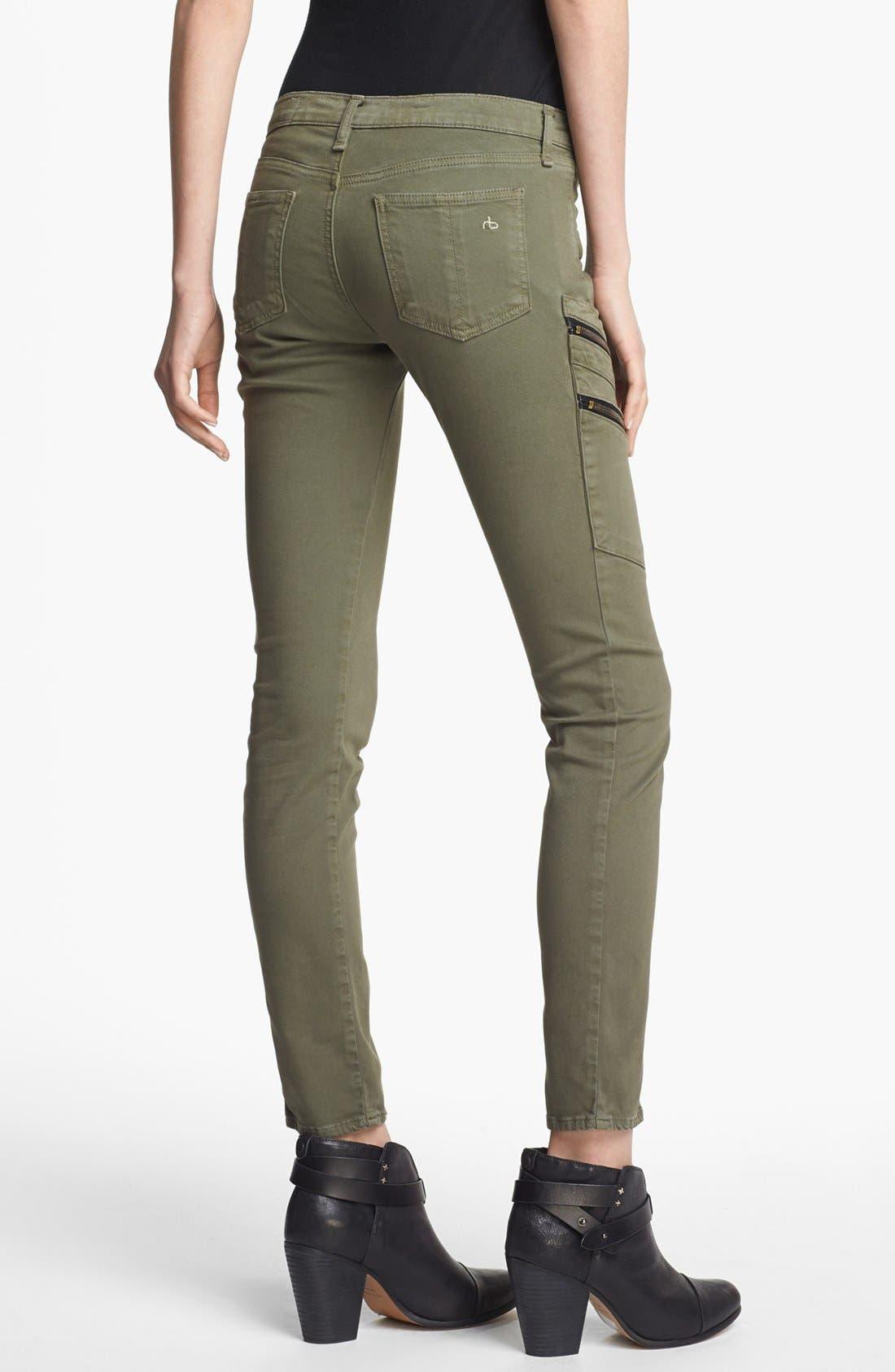 Alternate Image 2  - rag & bone/JEAN 'Larit' Skinny Cargo Jeans