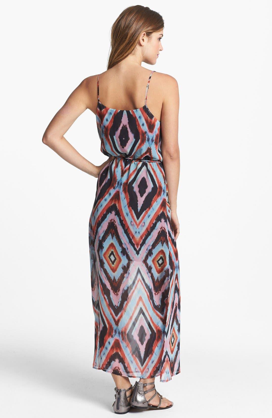 Alternate Image 2  - Olive & Oak Aztec Print Maxi Dress