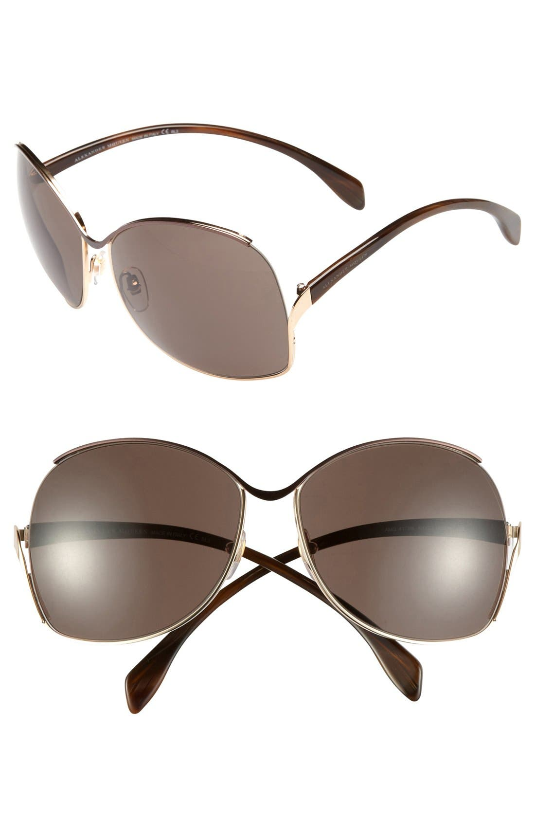 Main Image - Alexander McQueen Retro Metal Sunglasses