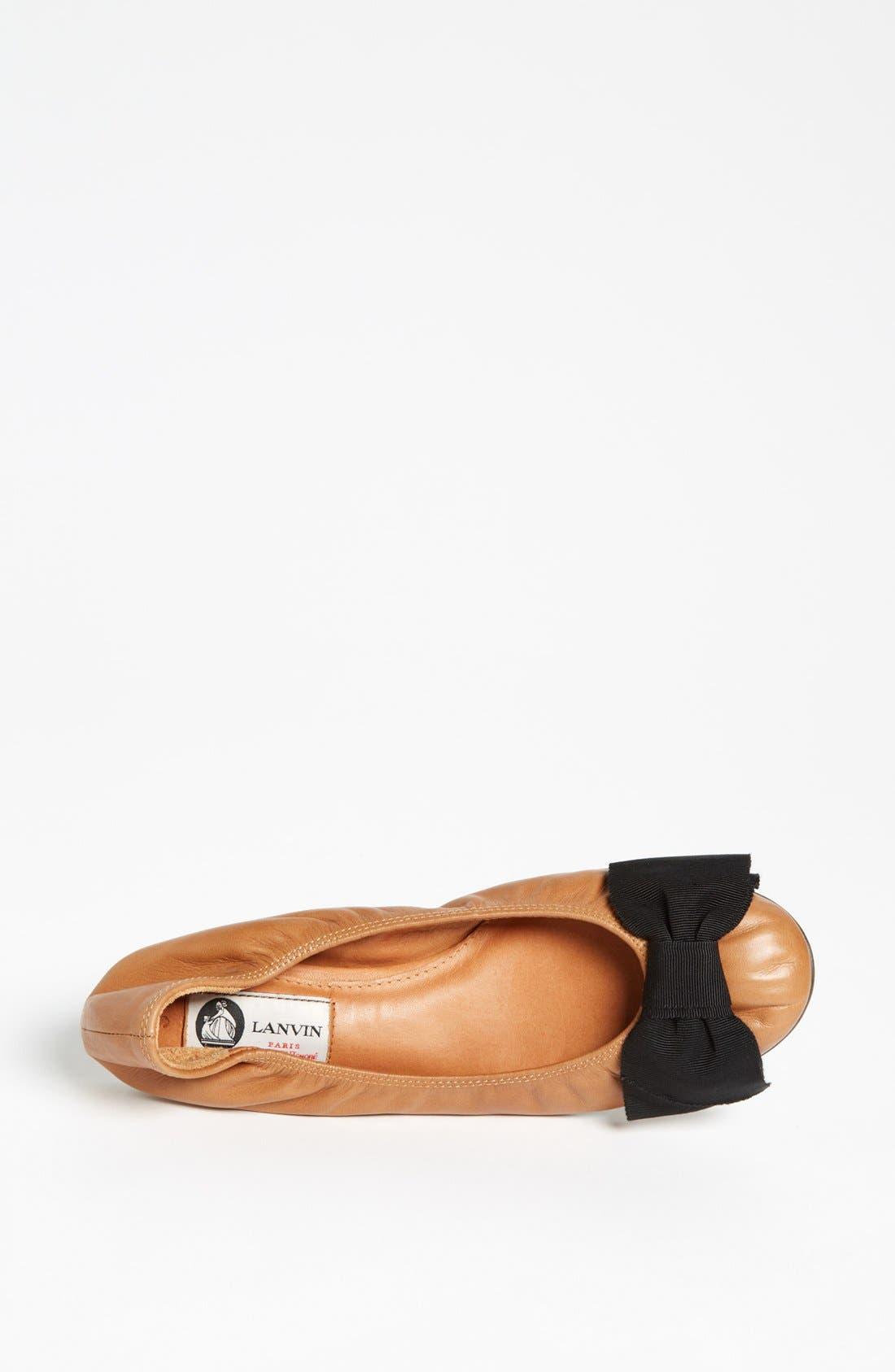 Alternate Image 3  - Lanvin Bow Detail Ballet Flat