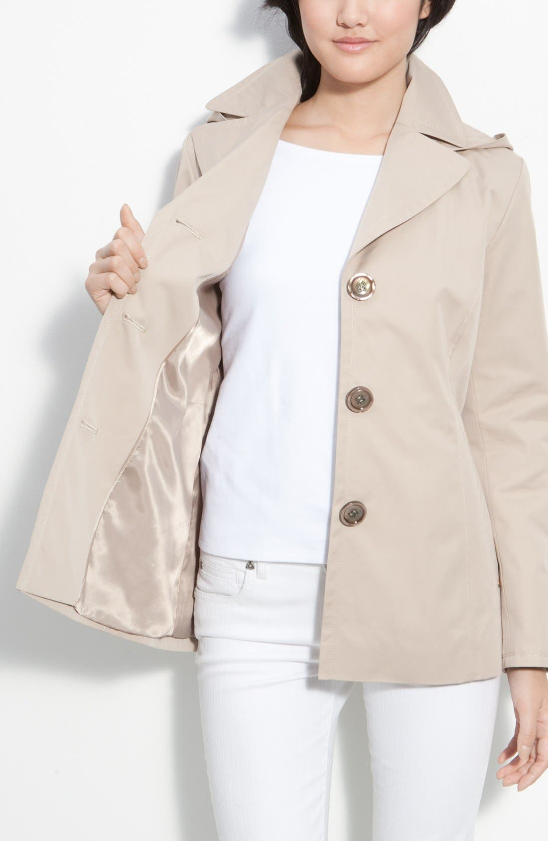 Alternate Image 2  - Ellen Tracy Single Breasted Trench Coat (Nordstrom Exclusive)