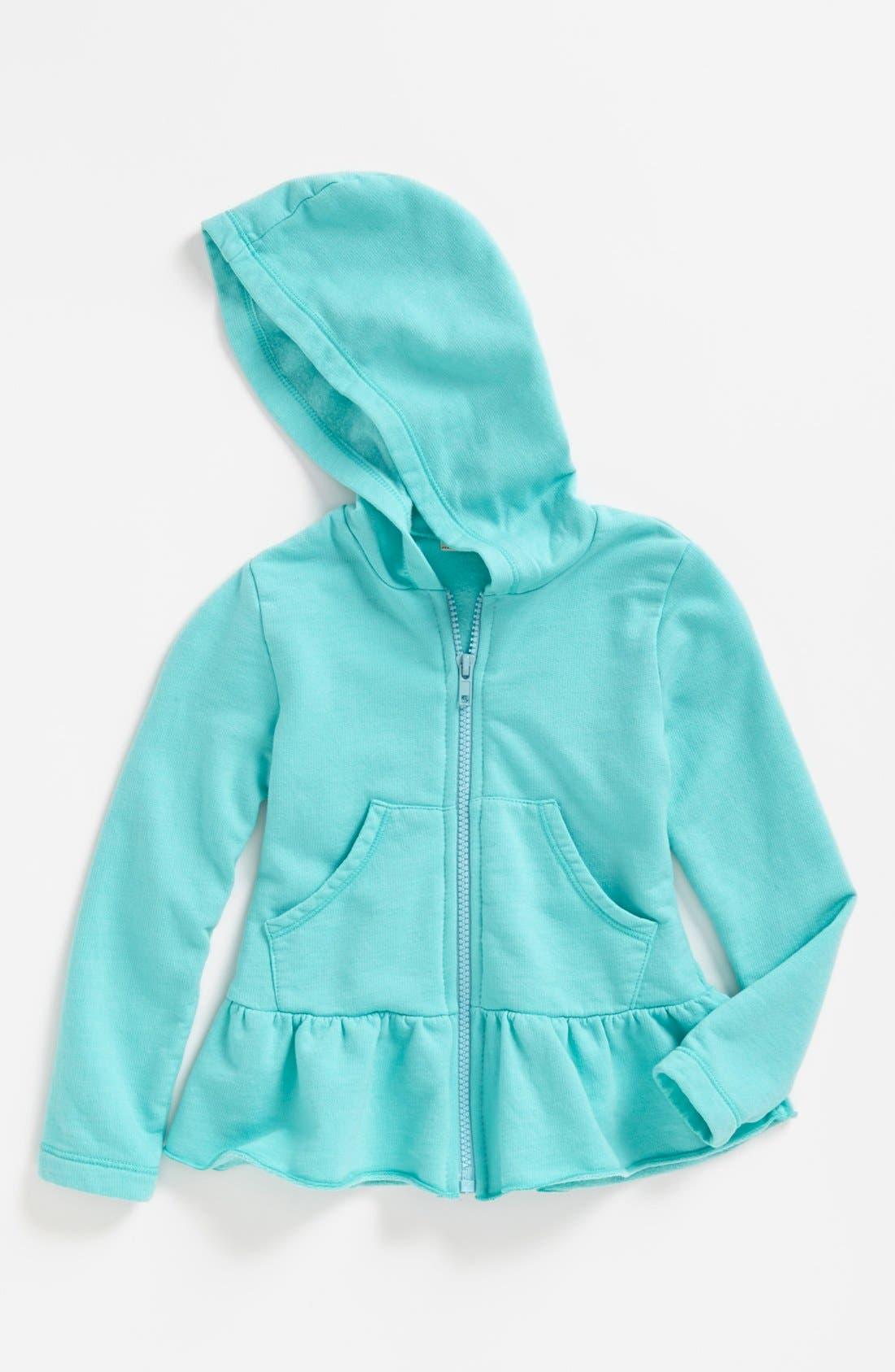 Alternate Image 1 Selected - TA-EAM Peplum Hoodie (Toddler Girls)