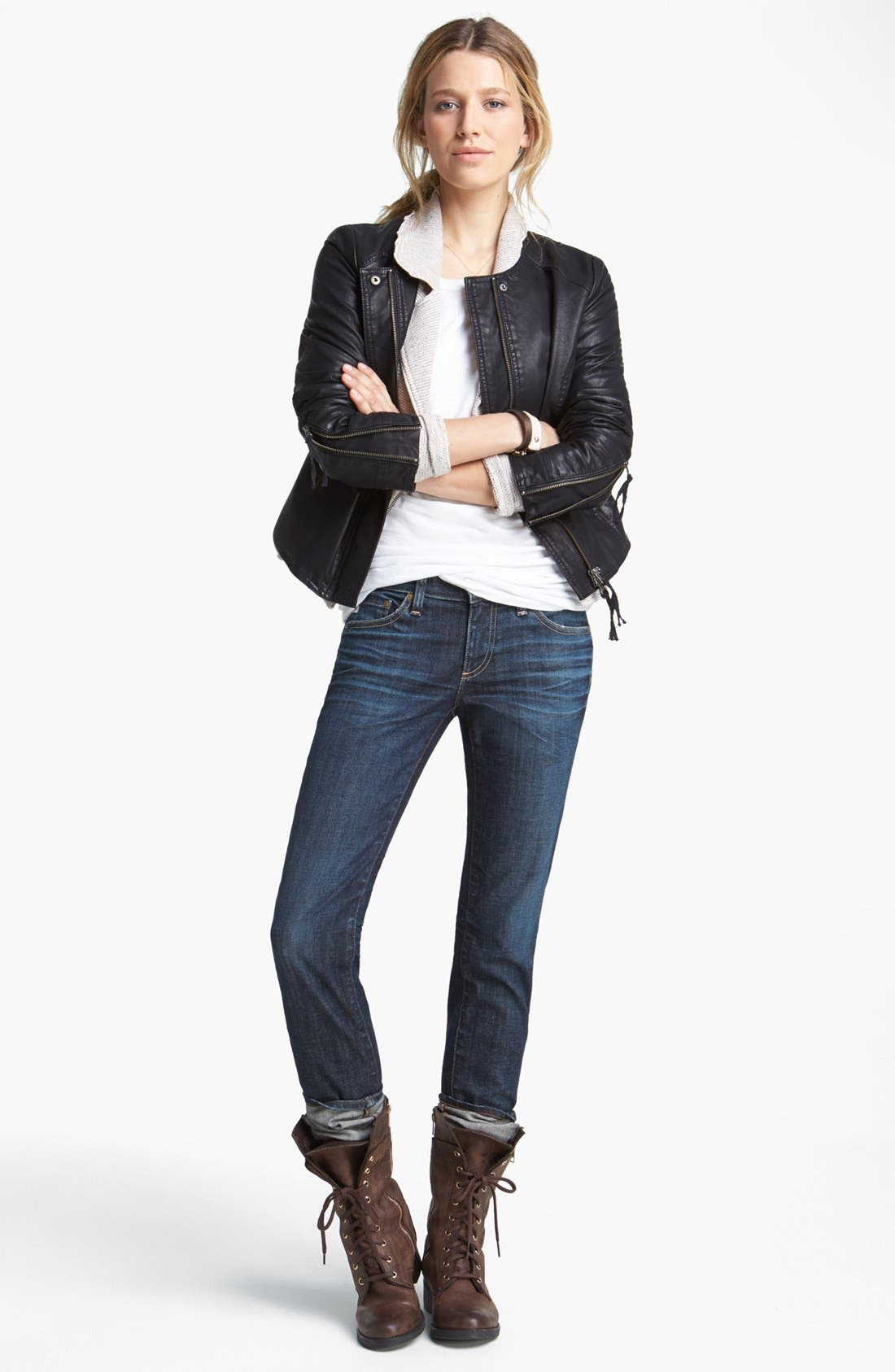 Alternate Image 6  - Free People Faux Leather Jacket