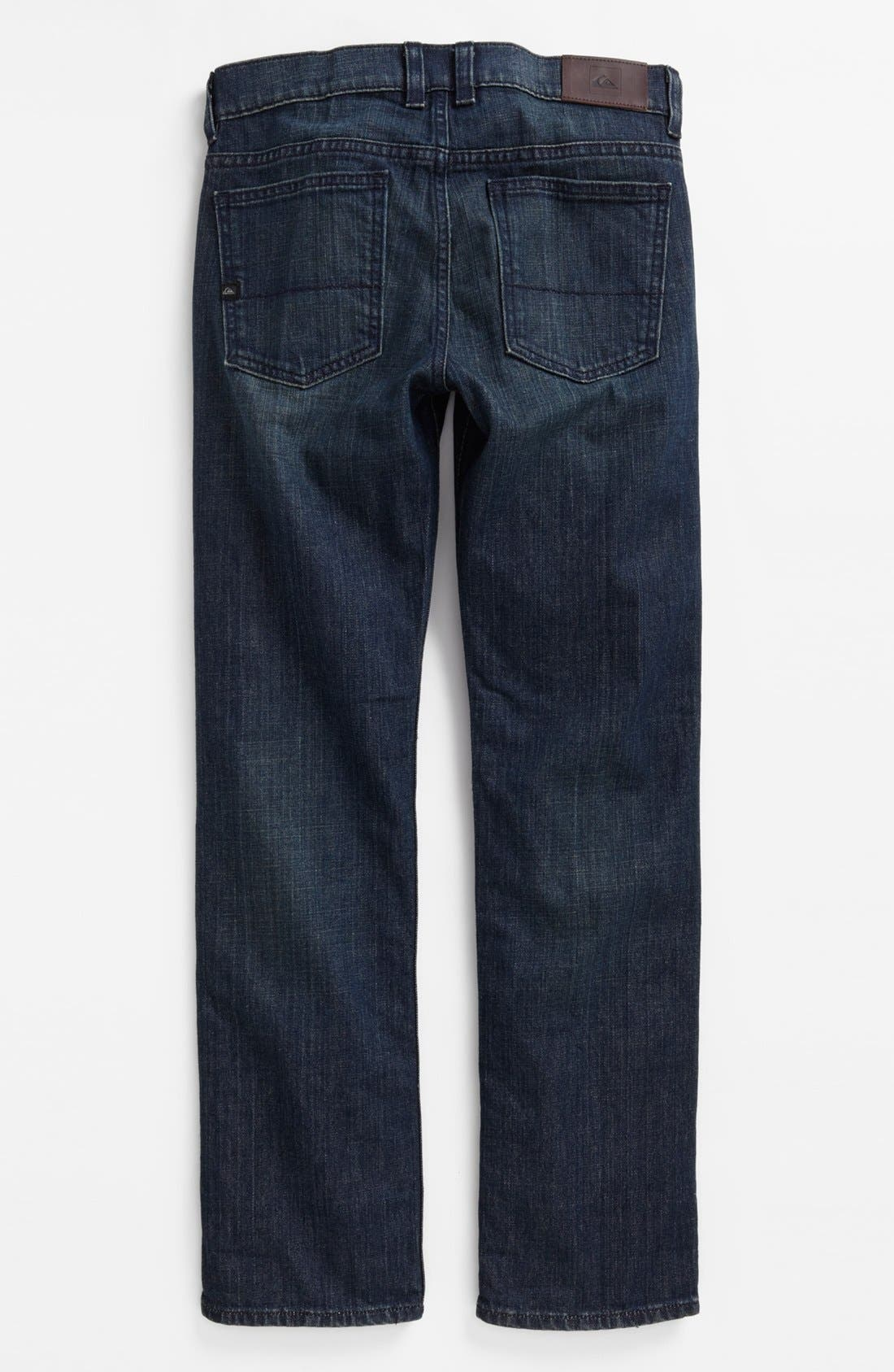 Alternate Image 1 Selected - Quiksilver 'Revolver' Straight Leg Jeans (Big Boys)