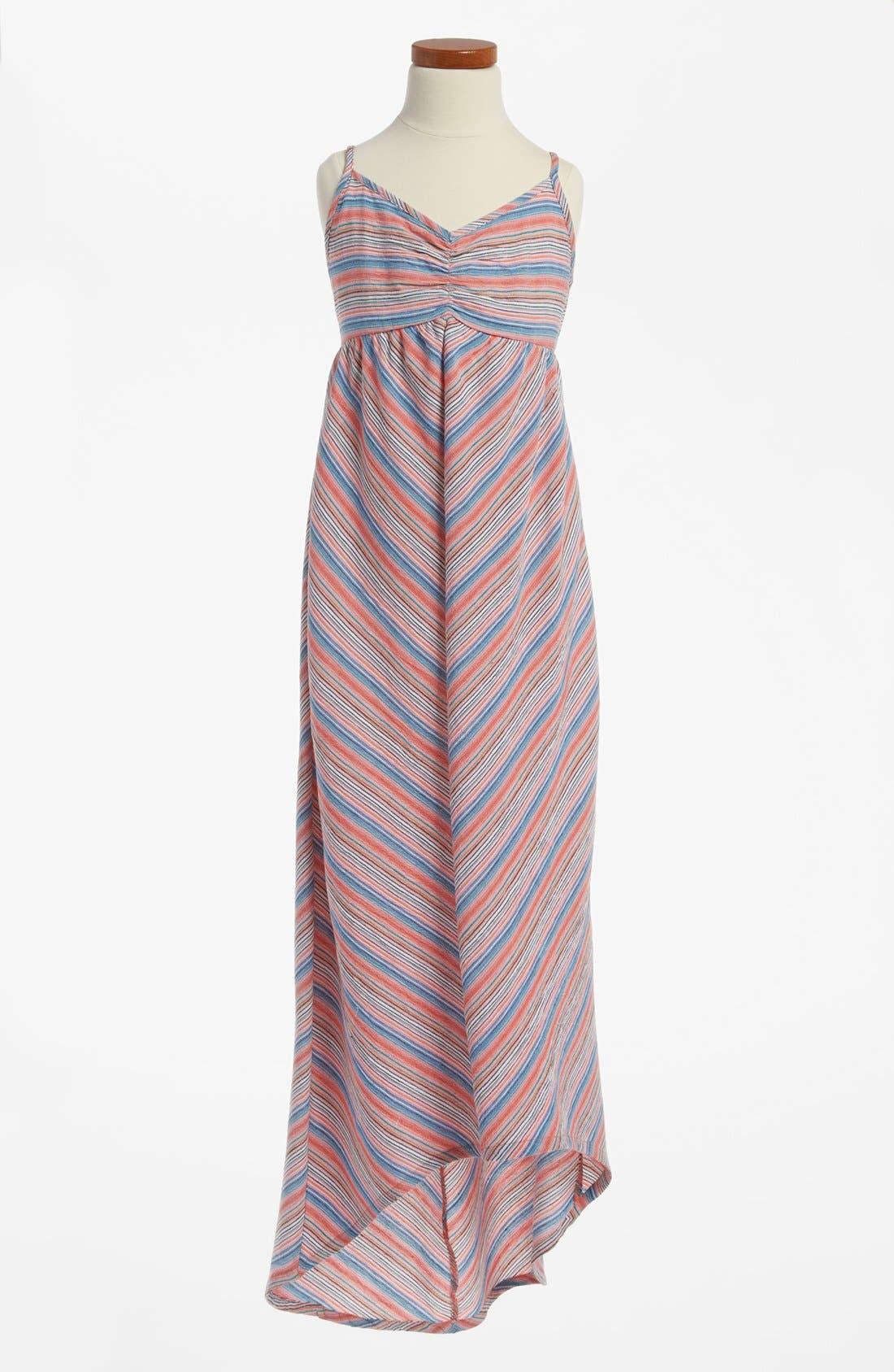 Main Image - Woven High/Low Maxi Dress (Big Girls)