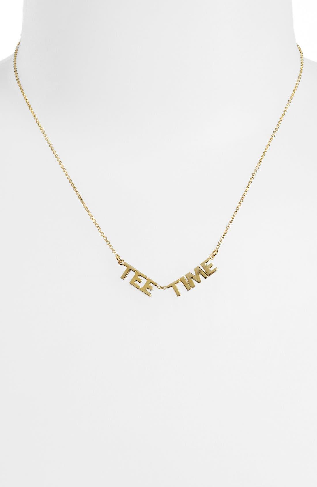 Alternate Image 2  - kate spade new york 'on par - tee time' pendant necklace