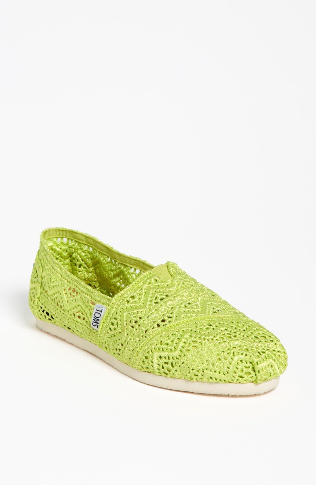 Main Image - TOMS 'Classic - Neon' Crochet Slip-On (Women)