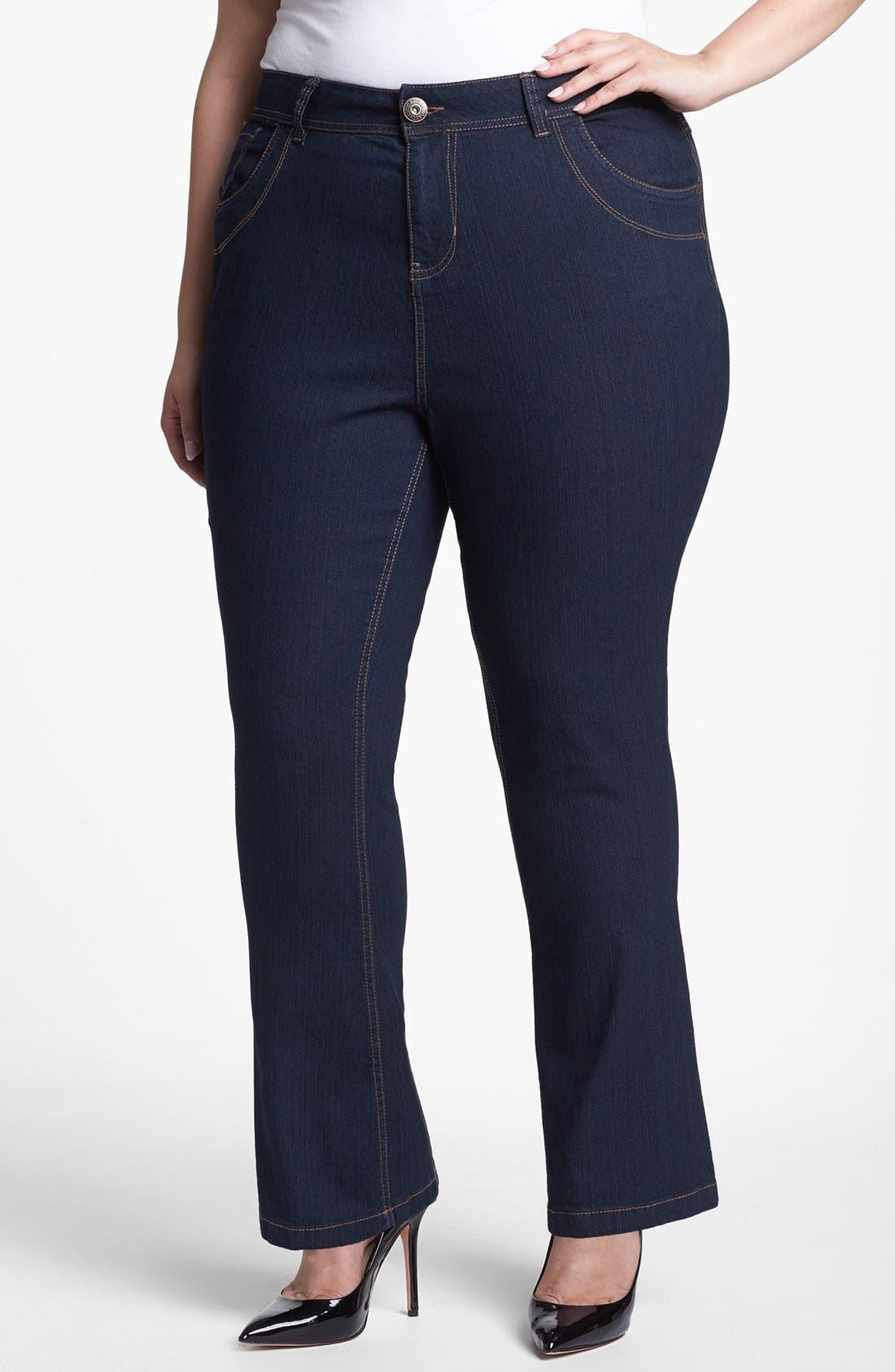 Main Image - Evans Bootcut Jeans (Plus Size)