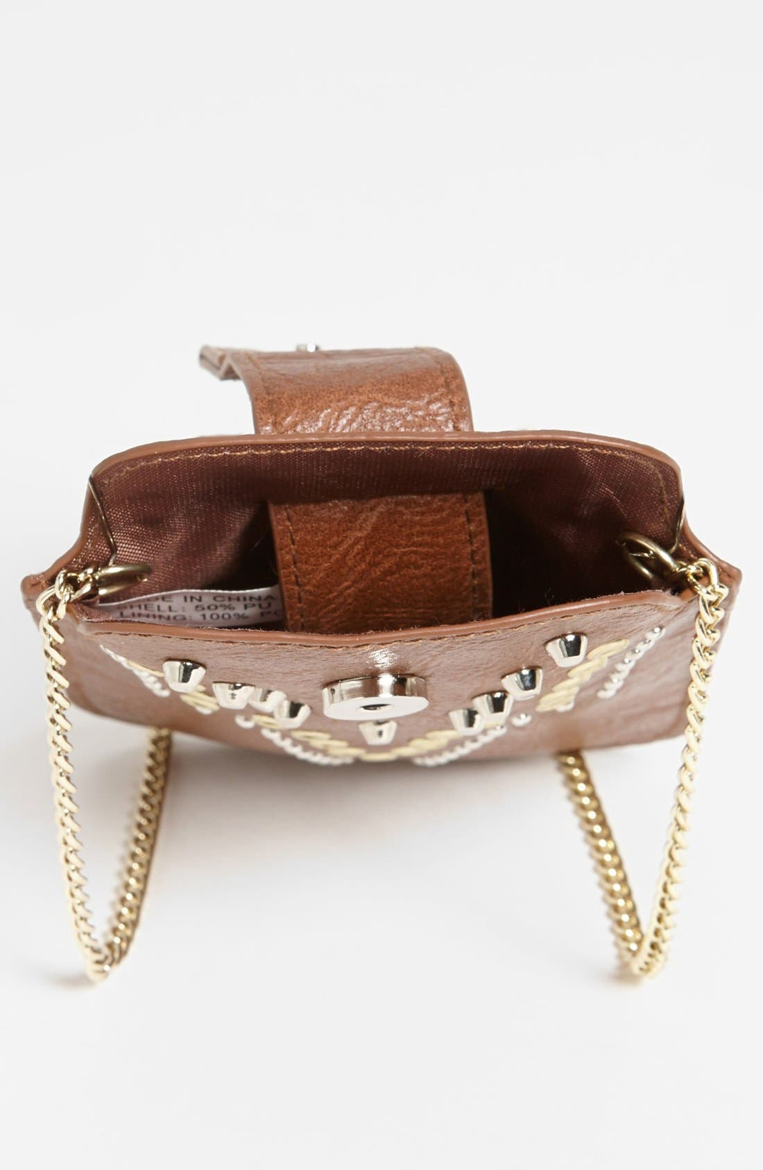 Alternate Image 4  - T-shirt & Jeans Studded Faux Leather Crossbody Pouch (Juniors)