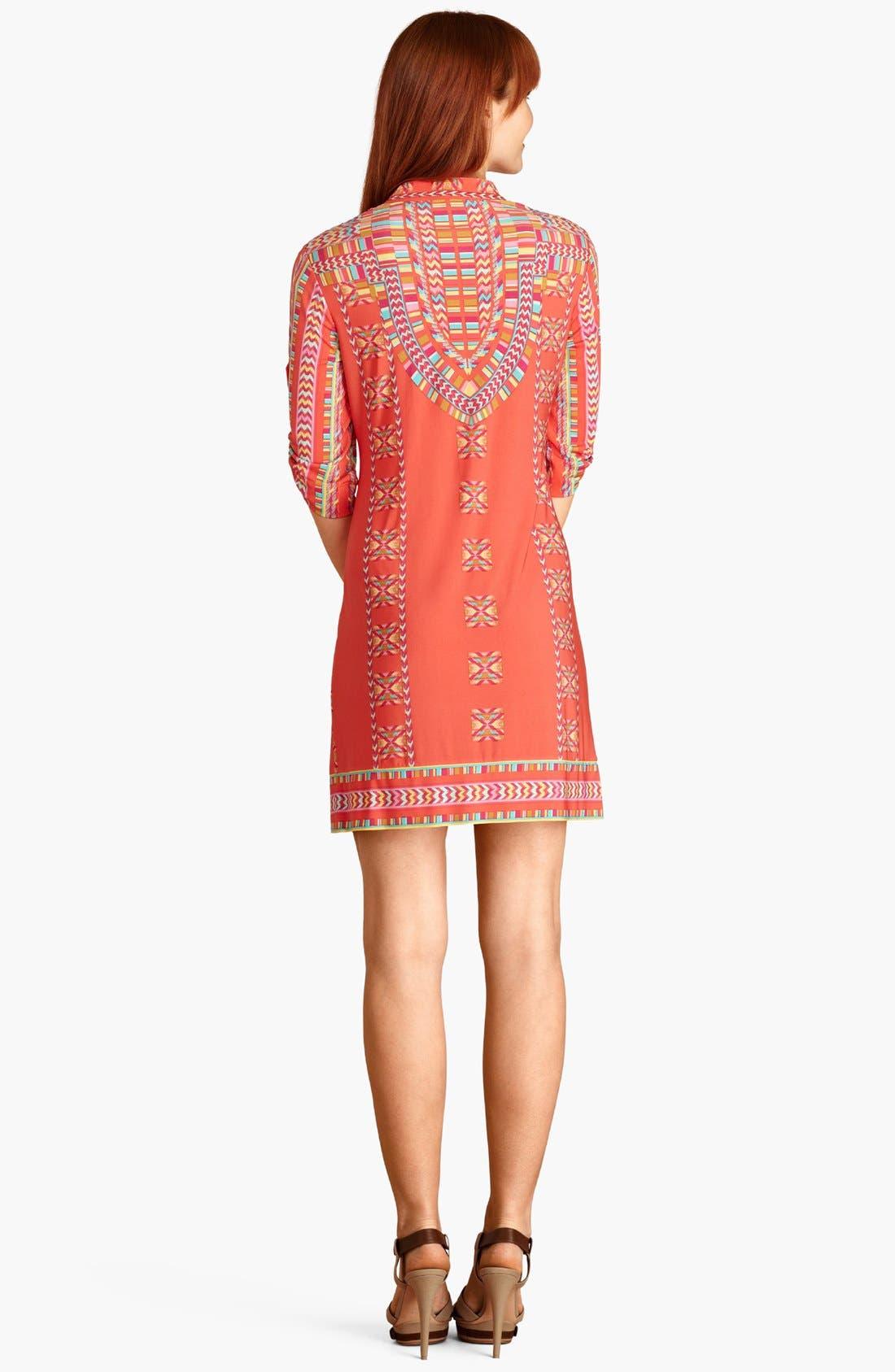Alternate Image 2  - Donna Morgan Print Matte Jersey Shift Dress