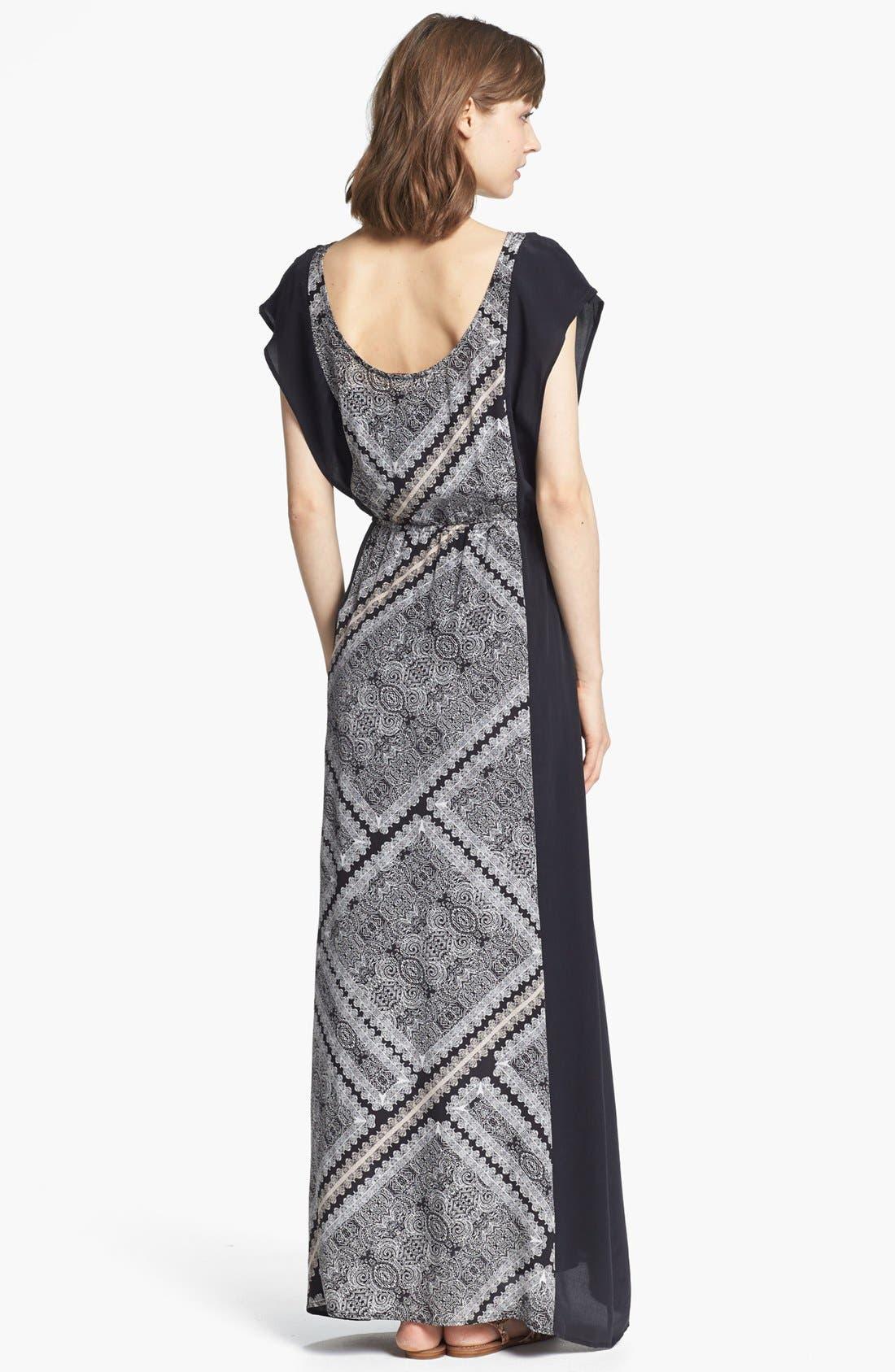 Alternate Image 2  - Ella Moss Print Panel Maxi Dress