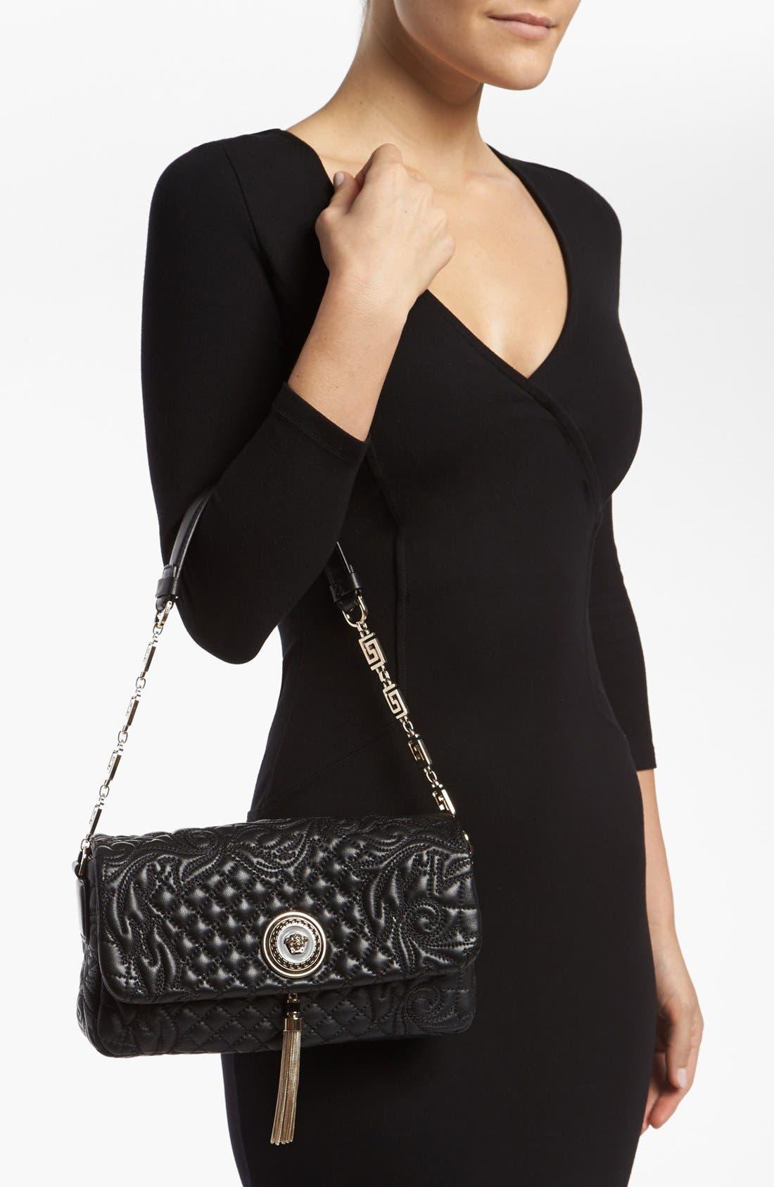 Alternate Image 2  - Versace 'Linea' Leather Shoulder Bag