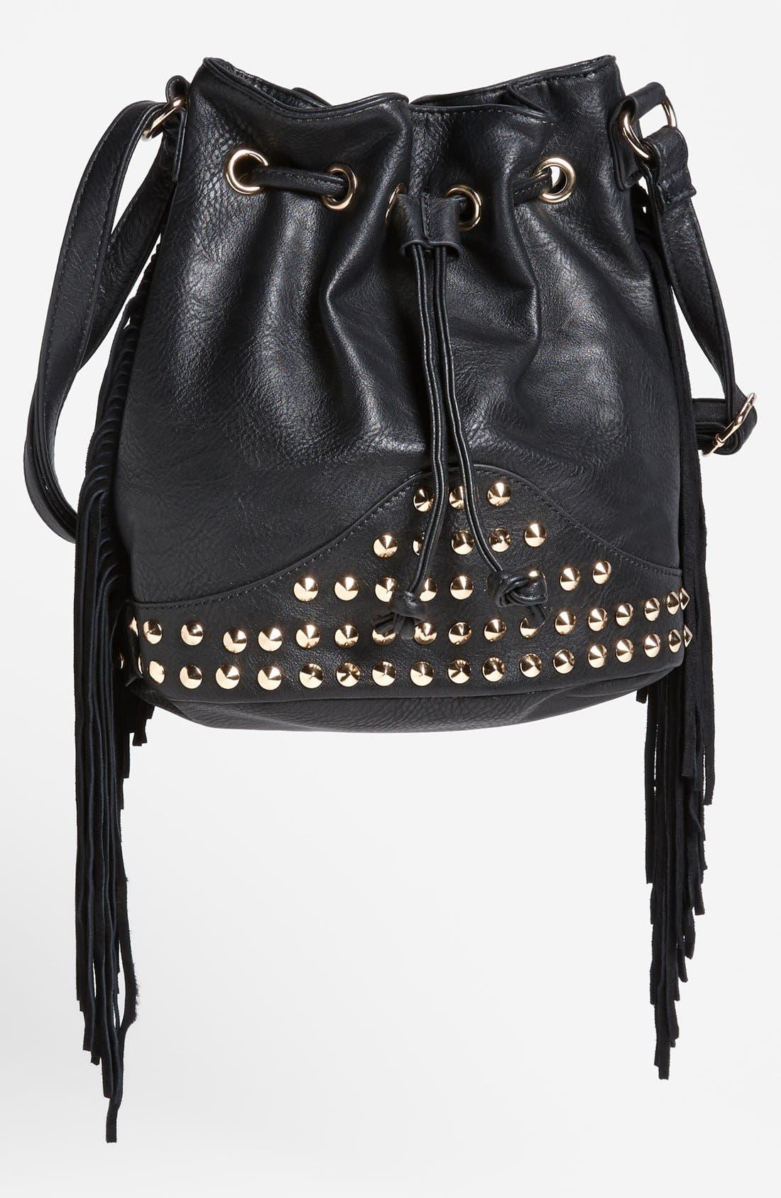 Main Image - Street Level Fringe Shoulder Bag