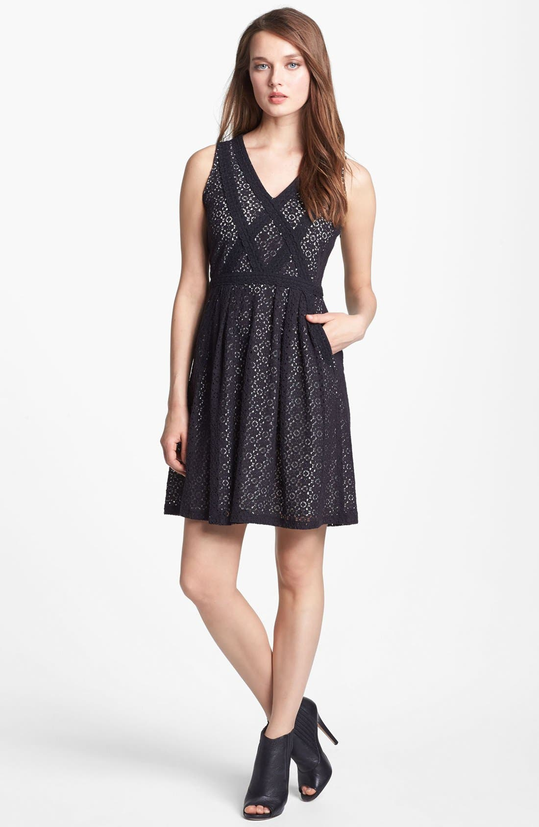 Main Image - MARC BY MARC JACOBS 'Collage' Lace Fit & Flare Dress