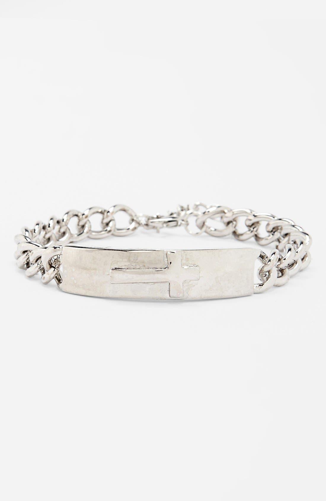 Alternate Image 1 Selected - Kool Konnections Chain ID Bracelet (Juniors) (Online Only)