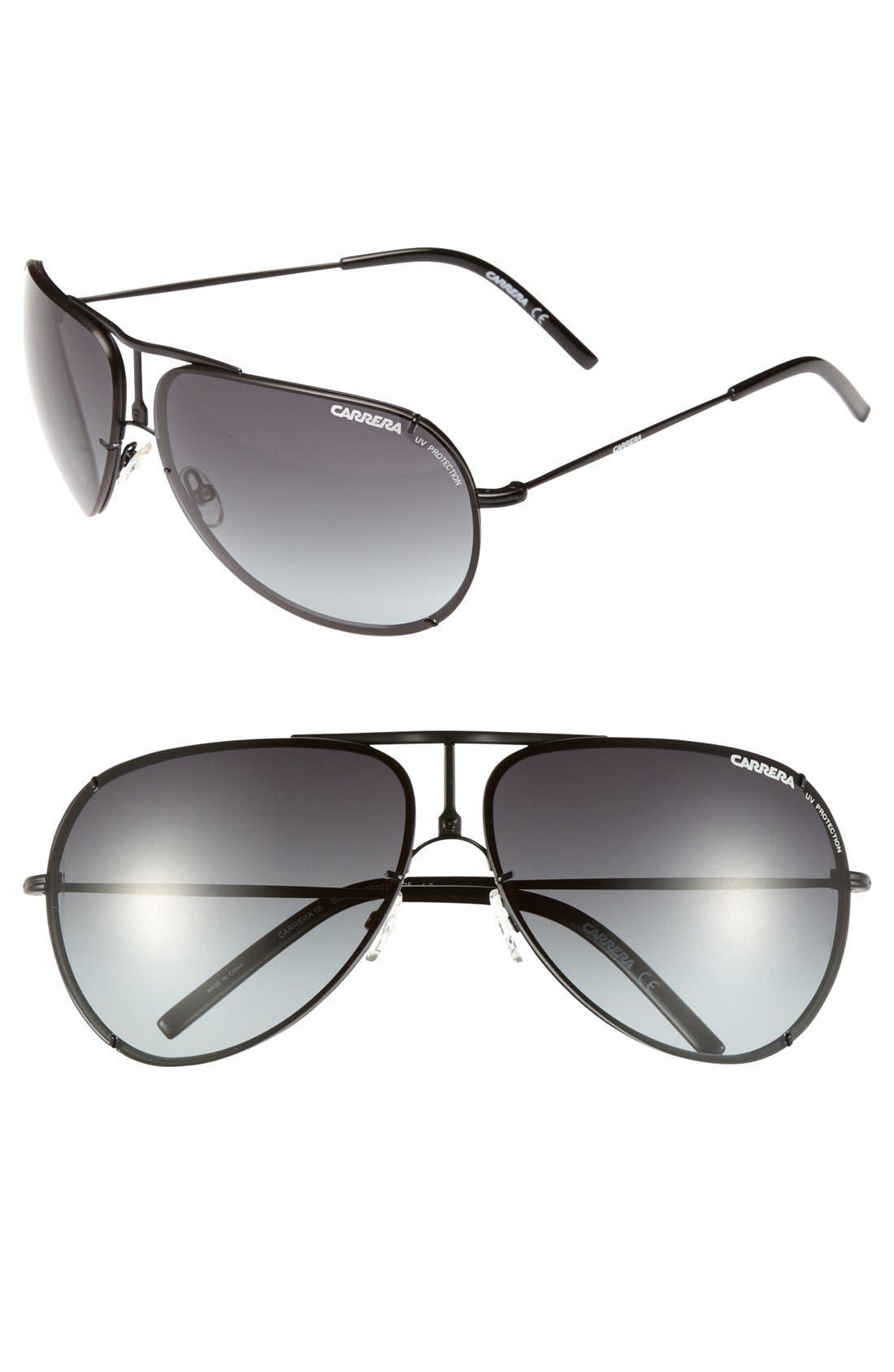 Alternate Image 1 Selected - Carrera Eyewear 67mm Metal Aviator Sunglasses