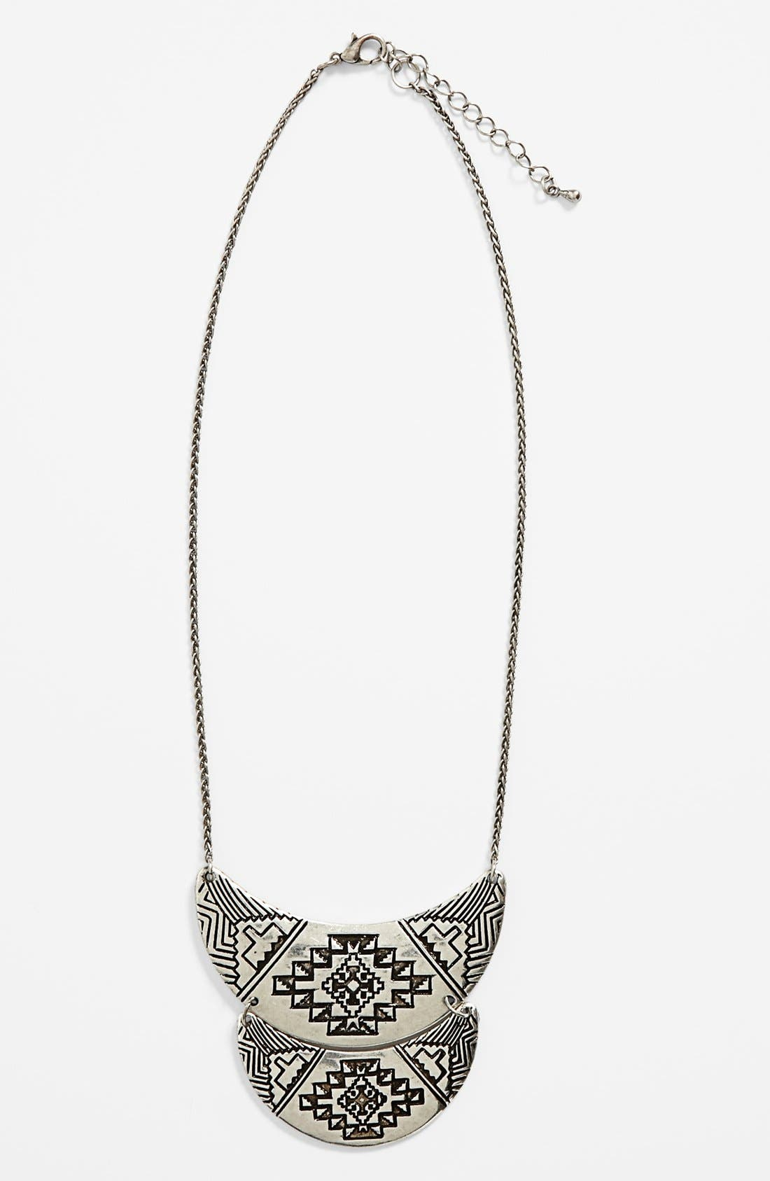 Main Image - South Sun 'Half Moon Aztec' Necklace (Juniors)