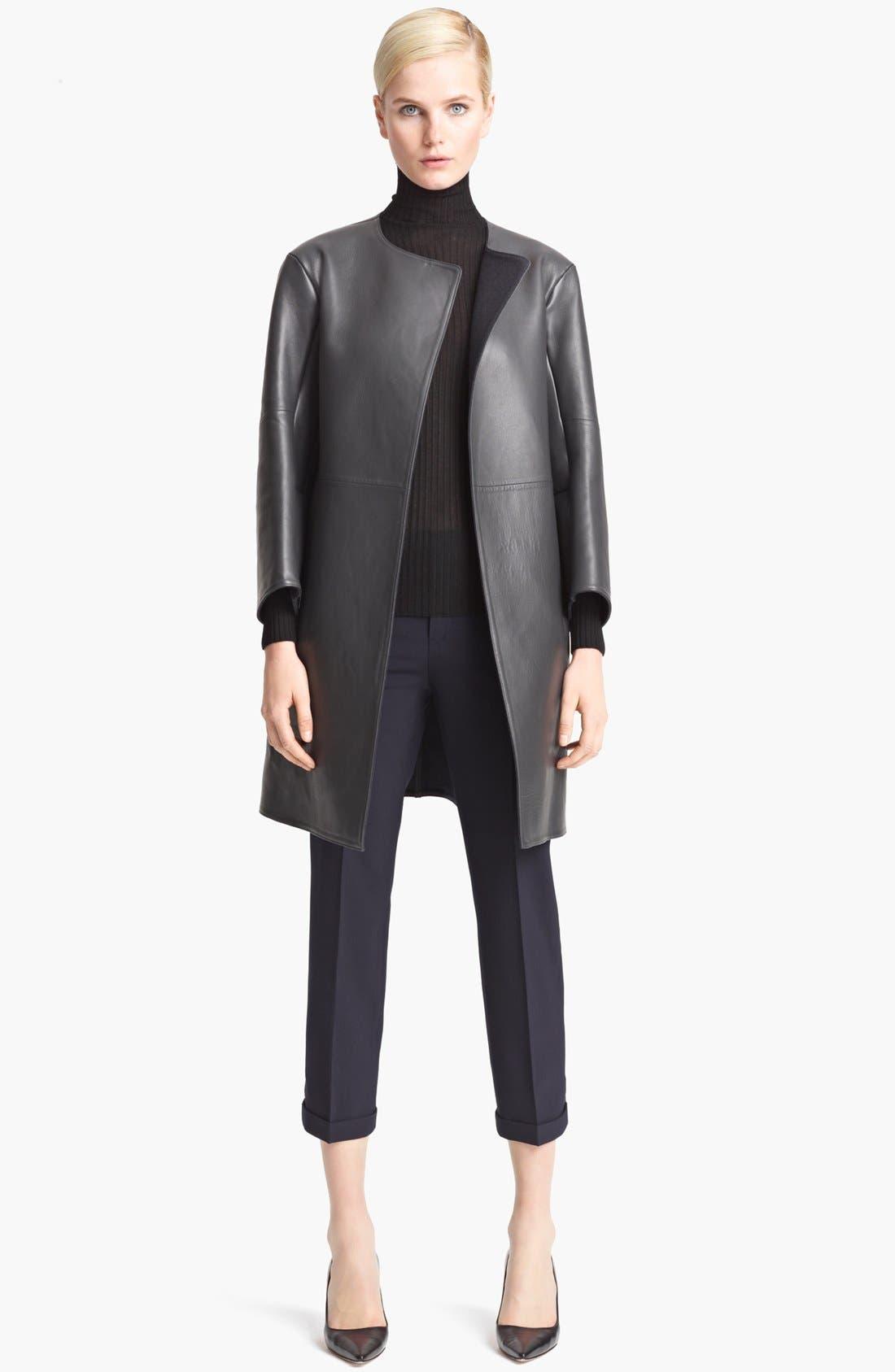 Alternate Image 1 Selected - Jil Sander Long Leather Coat