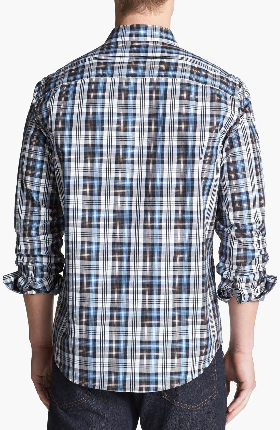 Alternate Image 2  - Michael Kors 'Crispin Check' Regular Fit Sport Shirt