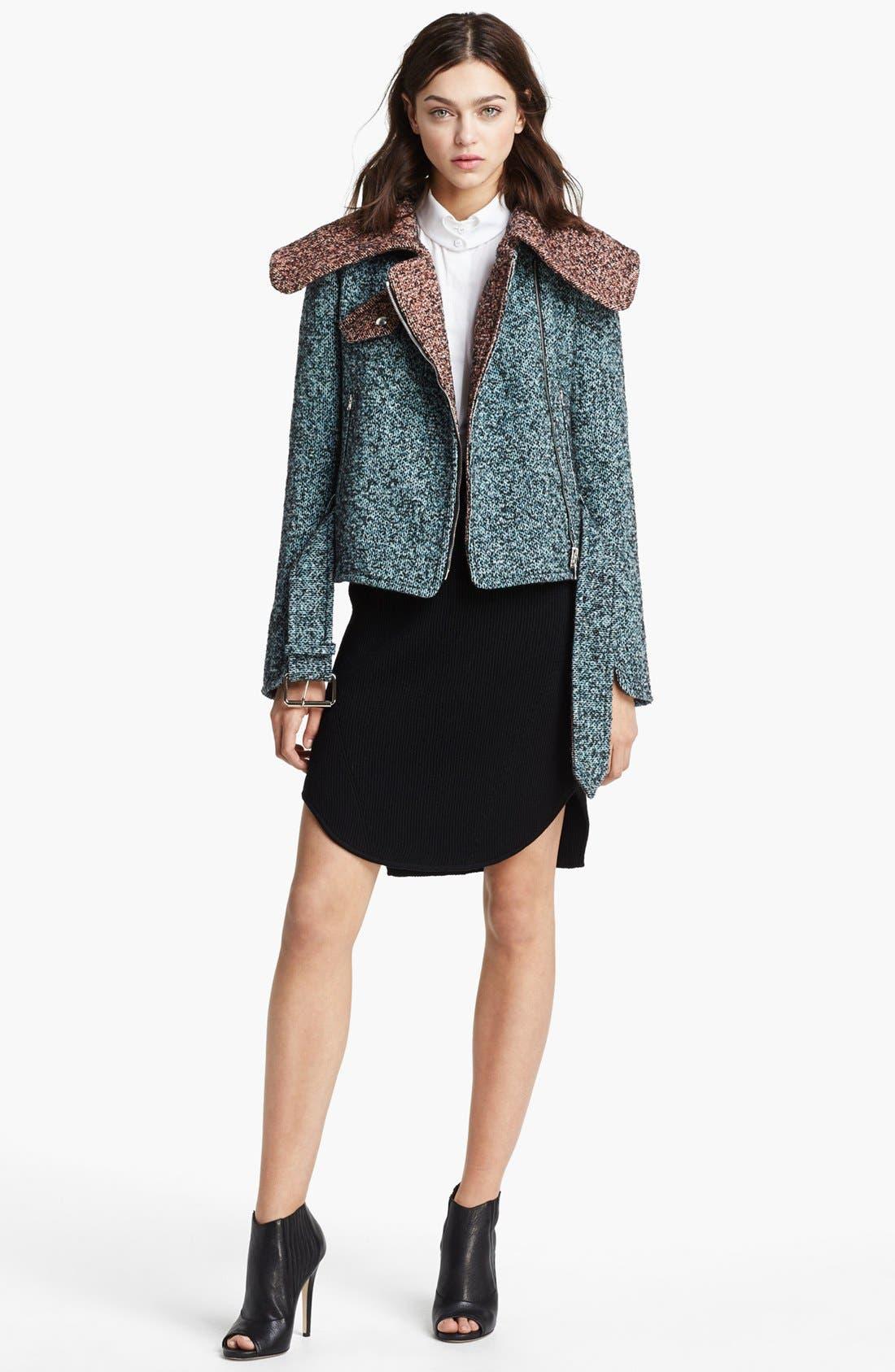 Alternate Image 3  - Carven Asymmetrical Zip Tweed Jacket
