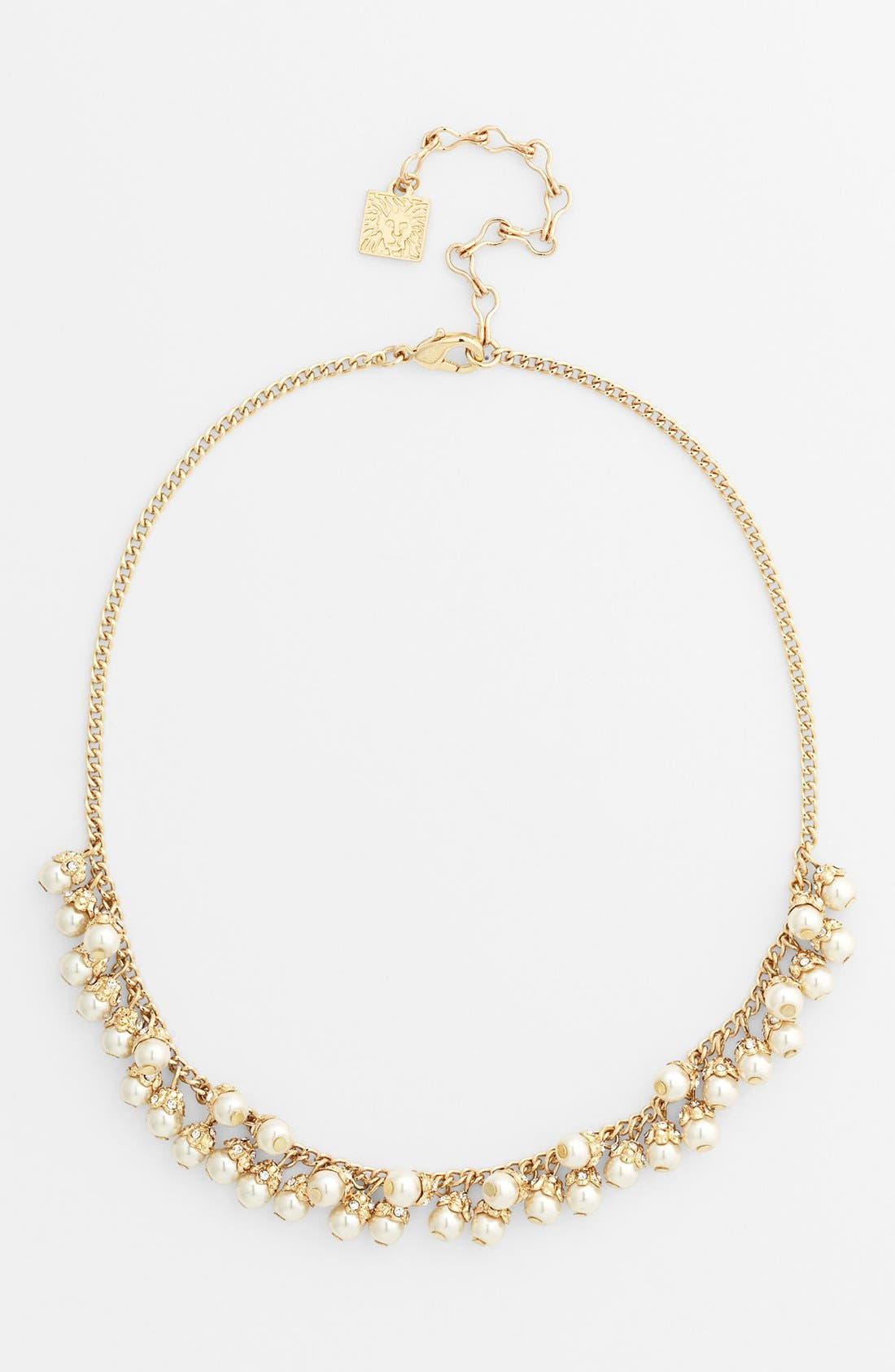 Main Image - Anne Klein Faux Pearl Frontal Necklace