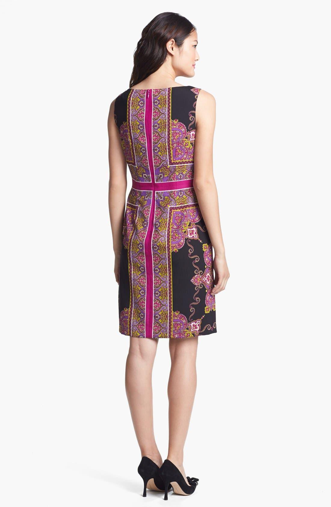 Alternate Image 2  - Adrianna Papell Scarf Print Sheath Dress