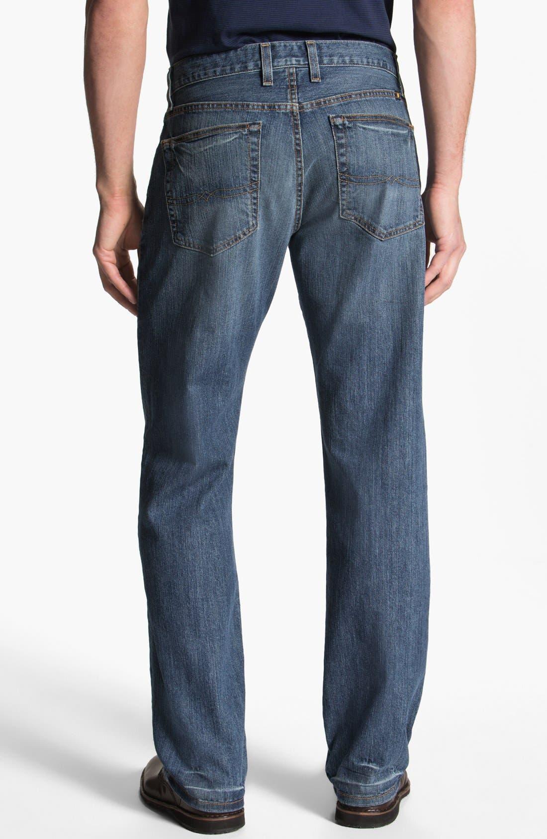Alternate Image 2  - Lucky Brand '329' Classic Straight Leg Jeans (Sandy)