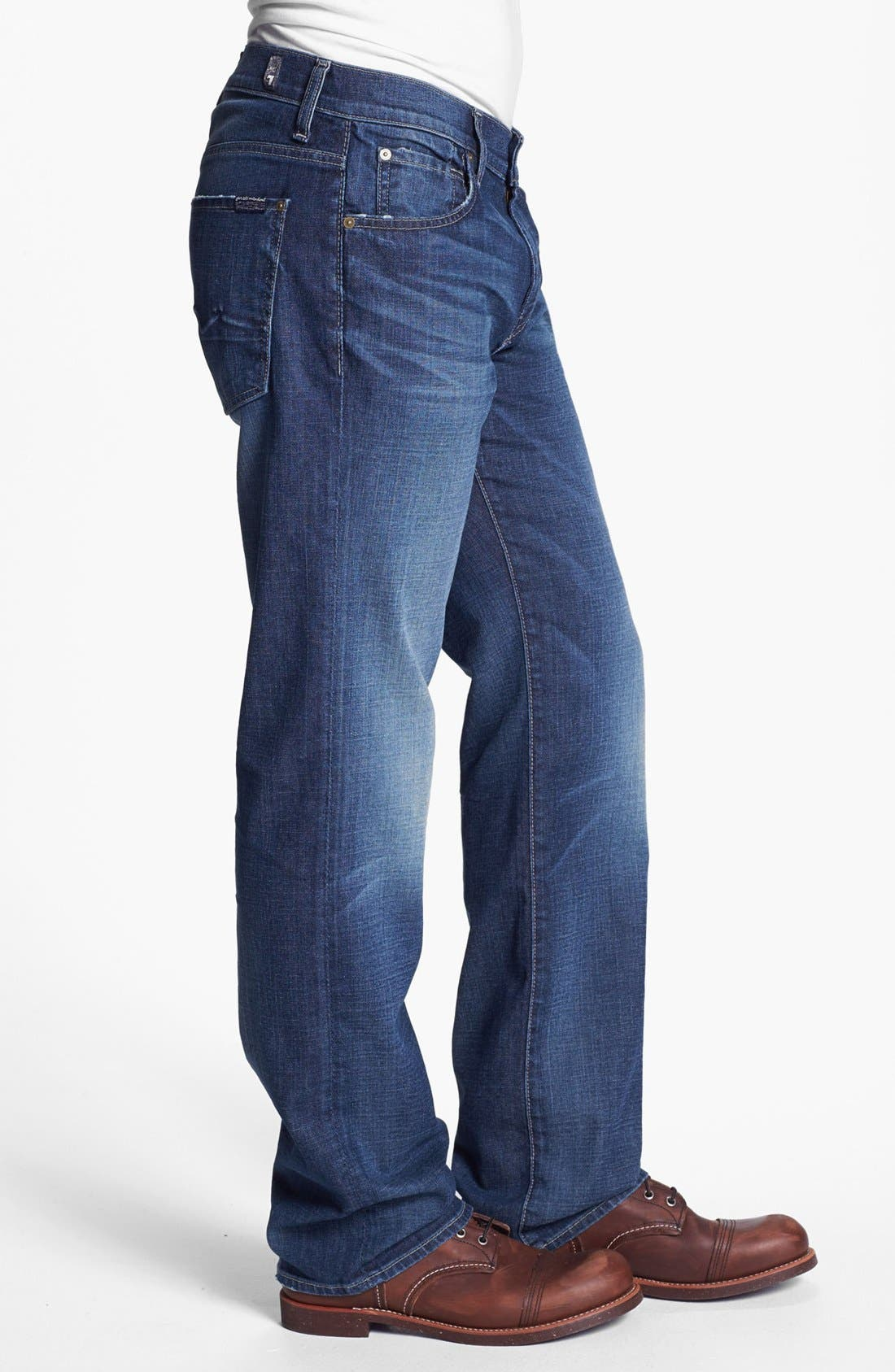 Alternate Image 3  - 7 For All Mankind® 'Austyn' Relaxed Fit Jeans (Deep Creek)