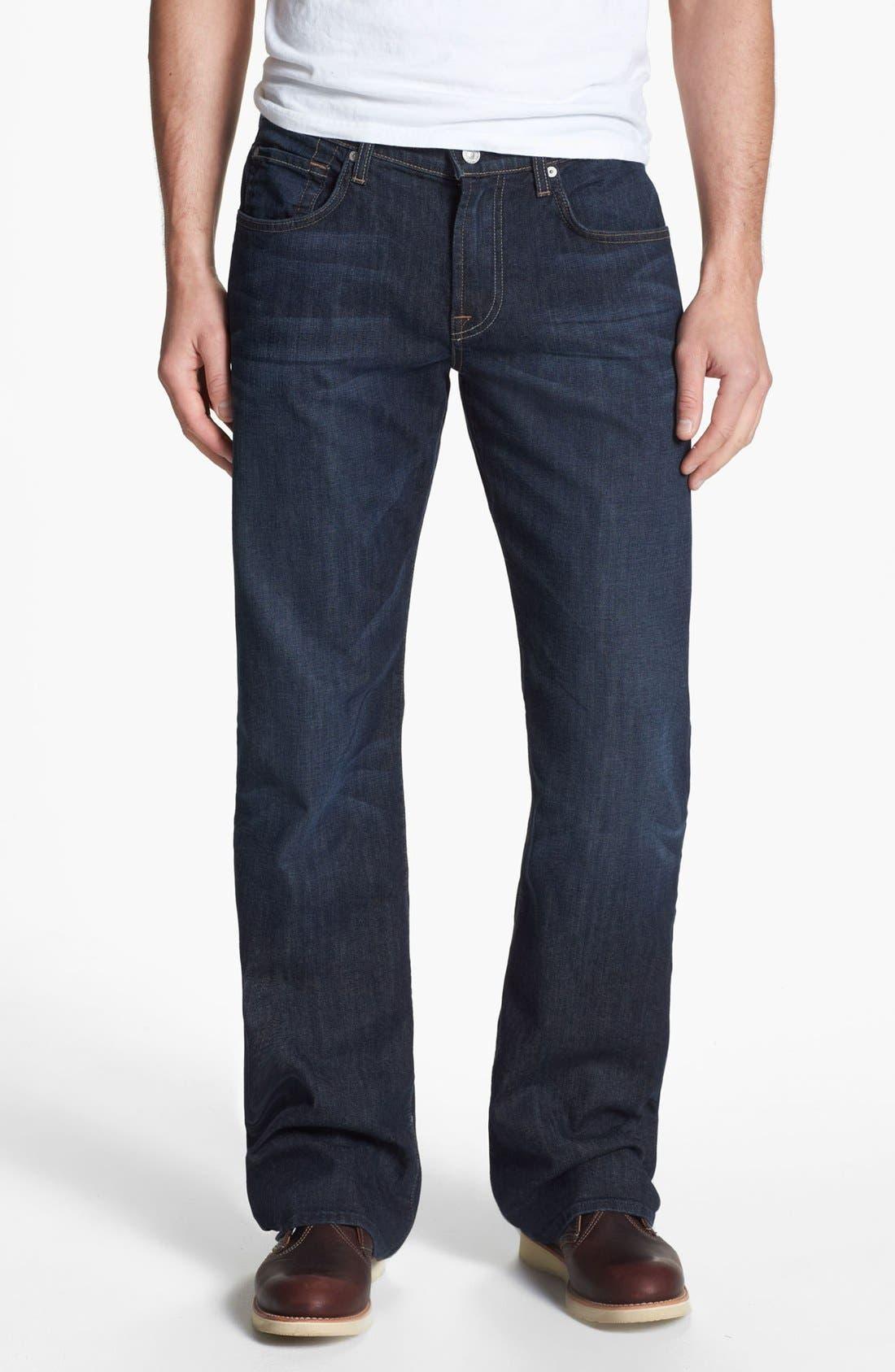 Alternate Image 2  - 7 For All Mankind® 'Brett' Bootcut Jeans (Worn Hawthorne)