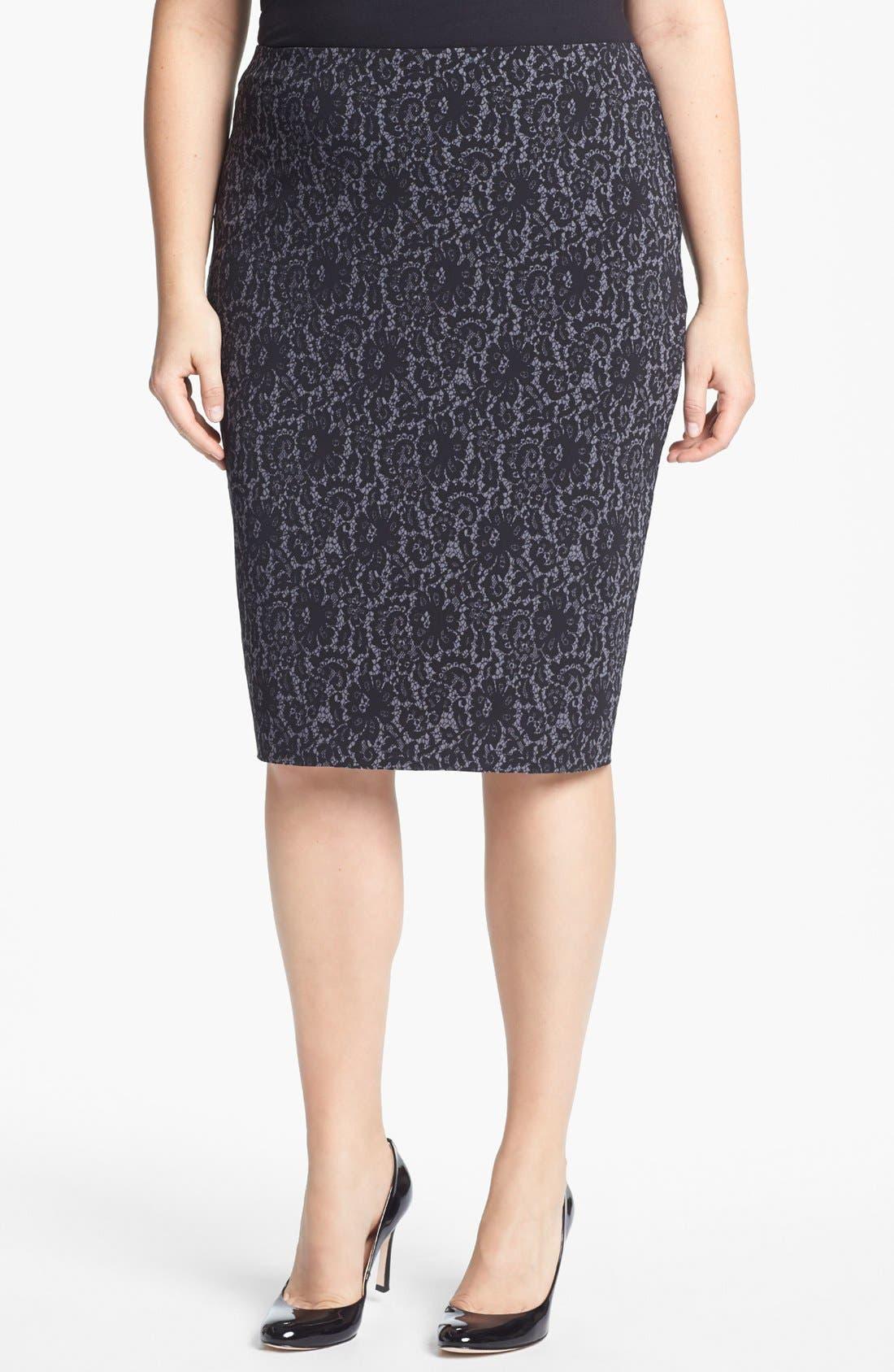 Main Image - Vince Camuto Midi Tube Skirt (Plus Size)